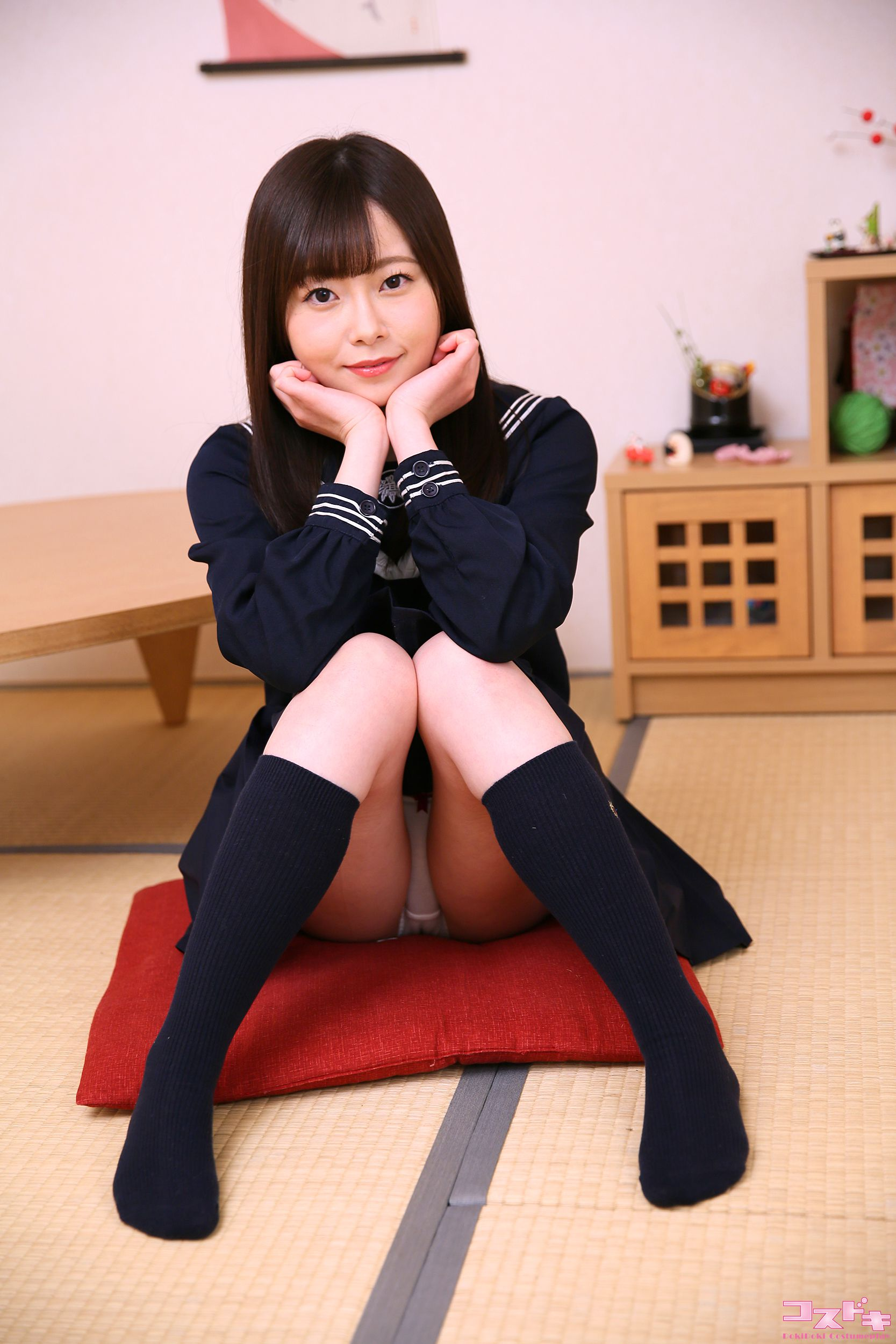 VOL.532 [Cosdoki]JK制服:西野たえ(胡桃多惠胡桃たえ)超高清写真套图(48P)
