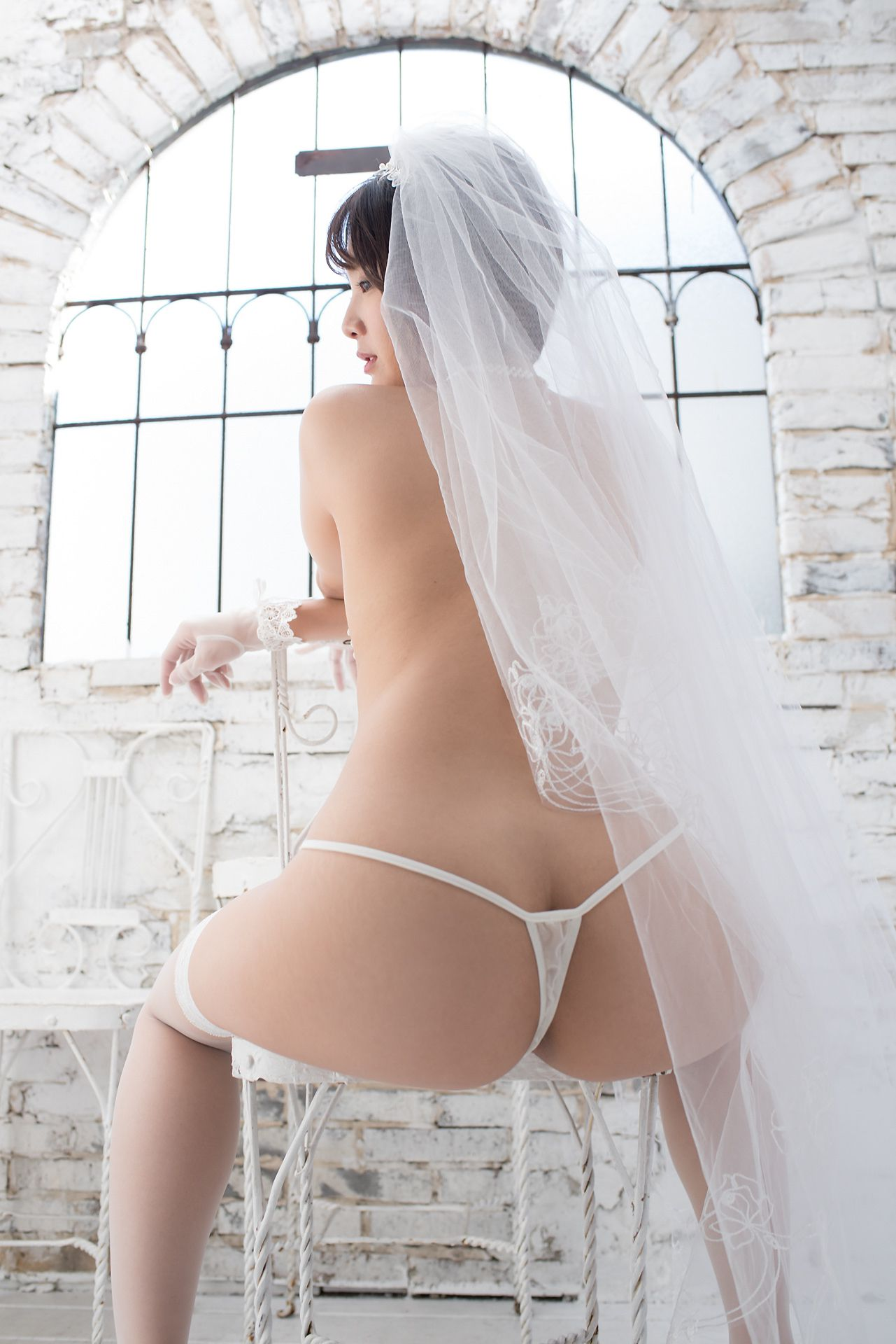 VOL.738 [Minisuka.tv]婚纱肥臀丝袜人体:神前司(神前つかさ)超高清写真套图(40P)