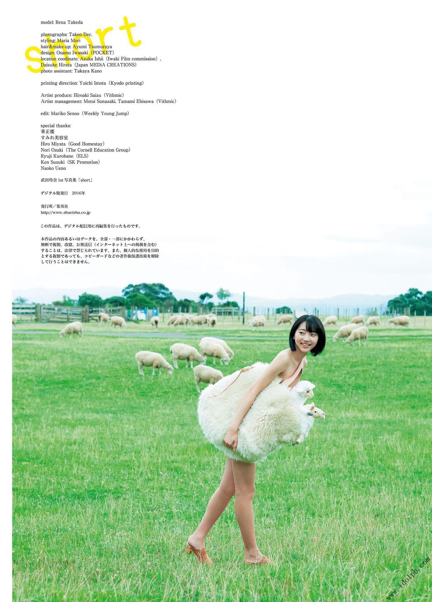 VOL.863 [PB集]可爱清纯甜美日本萌妹子:武田玲奈超高清写真套图(103P)
