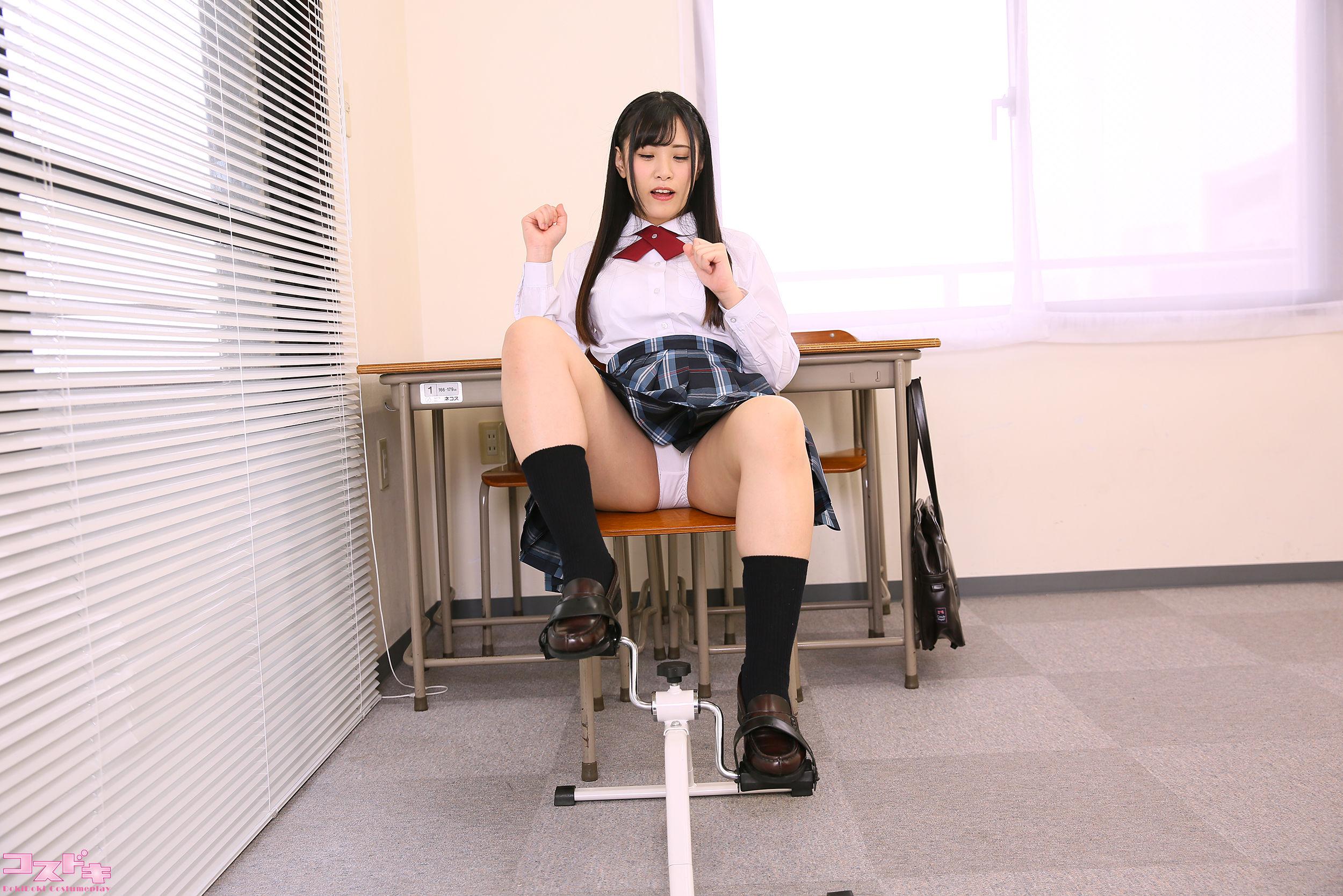 VOL.866 [Cosdoki]学生制服:涼城りおな超高清写真套图(44P)