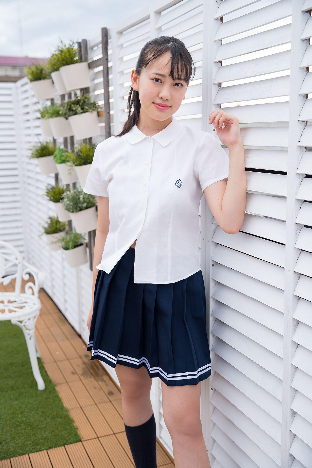 VOL.525 [Minisuka.tv]校服清纯少女:柏木さりな超高清写真套图(45P)