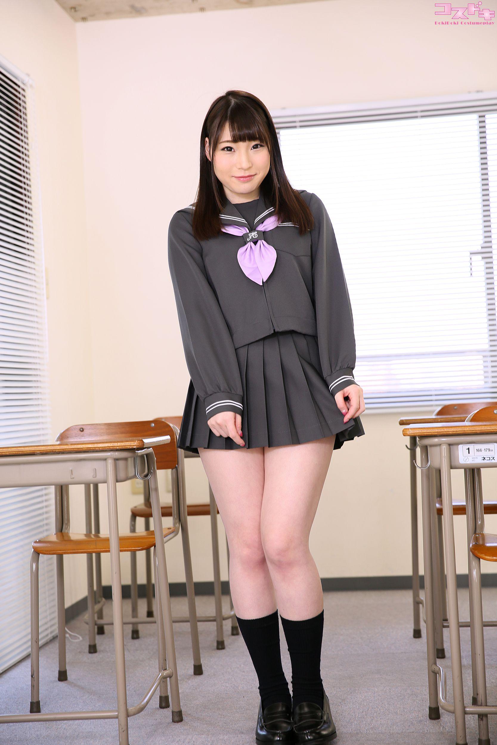 VOL.121 [Cosdoki]学生制服:凉宫真白(涼宮ましろ)超高清写真套图(50P)
