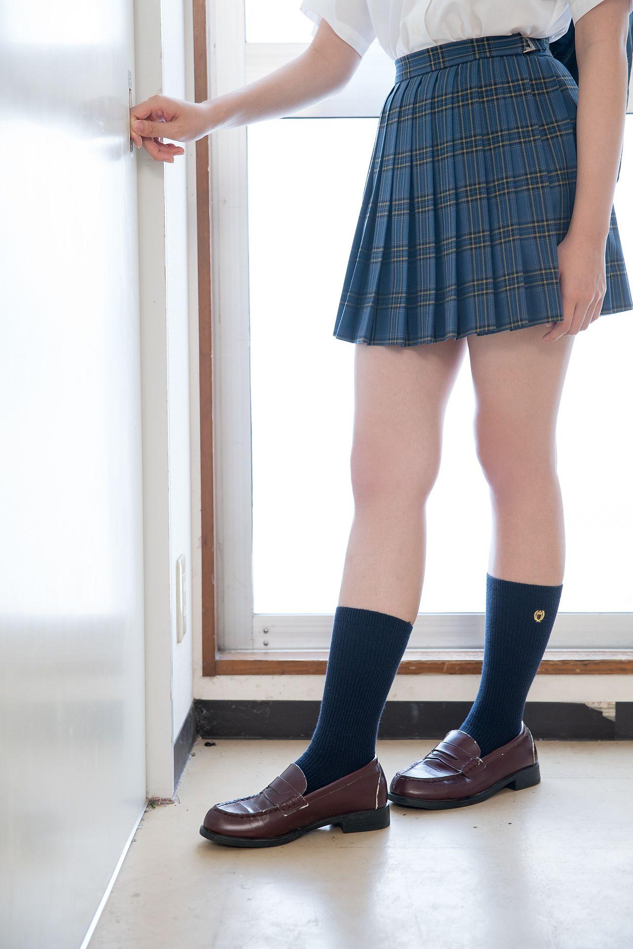 VOL.504 [Minisuka.tv]校服黑长直:柏木さりな超高清写真套图(52P)