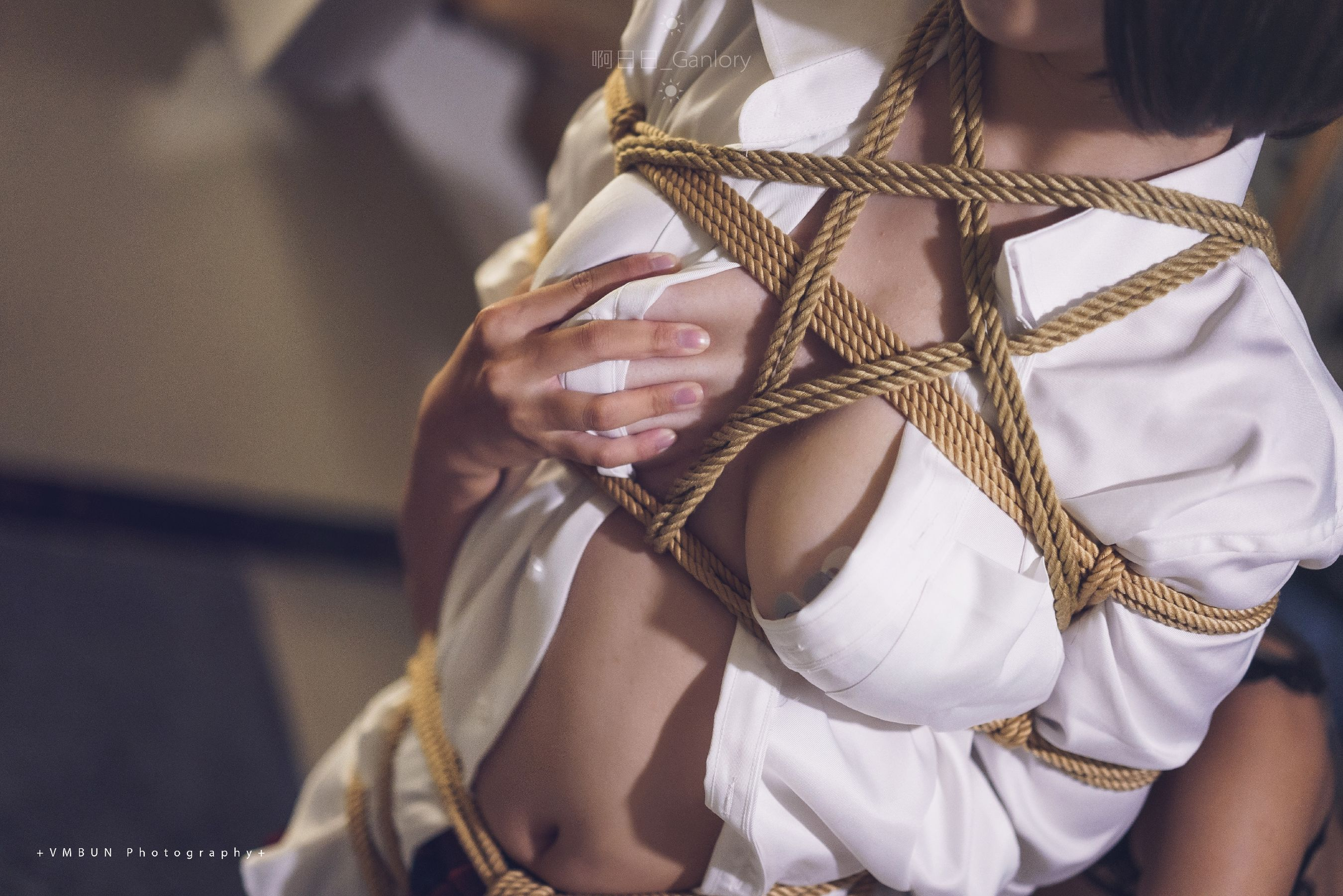 VOL.1345 [网络美女]捆绑绳艺丝袜人体:啊日日_Ganlory超高清写真套图(27P)