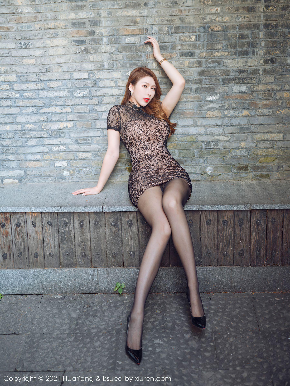 VOL.501 [花漾]旗袍巨乳丝袜熟女:Egg_尤妮丝(肉蛋妹,尤妮丝)超高清写真套图(55P)