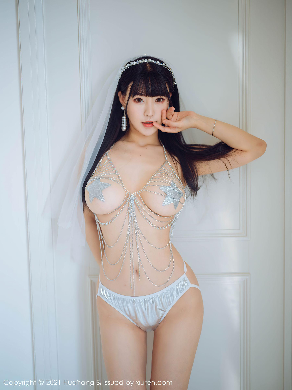 VOL.1297 [花漾]人体艺术巨乳婚纱:朱可儿(Barbie可儿,Flower朱可儿)超高清写真套图(62P)