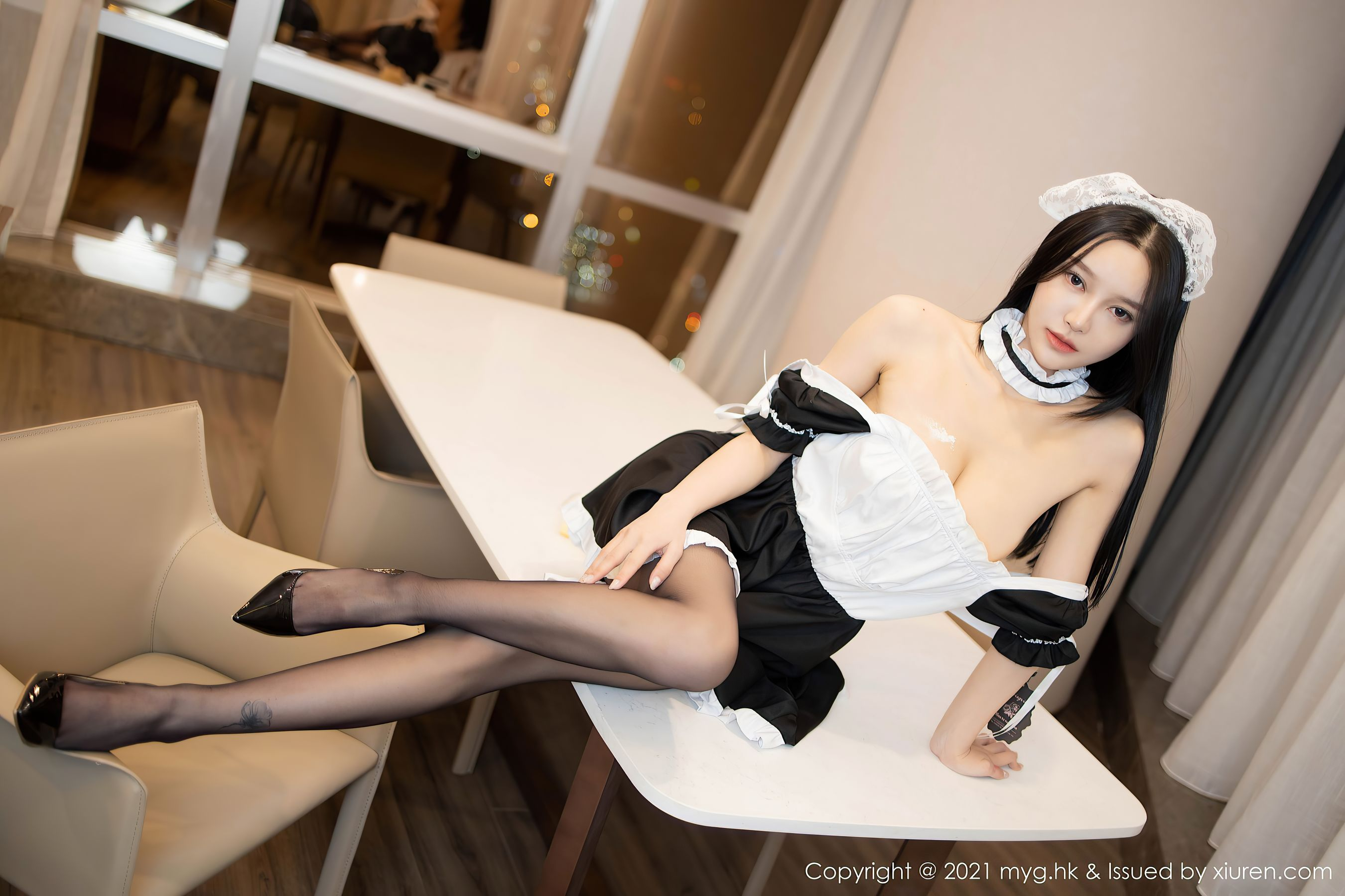 VOL.729 [美媛馆]女仆黑丝制服:唐琪儿(王艳卓,唐琪儿il)超高清写真套图(54P)