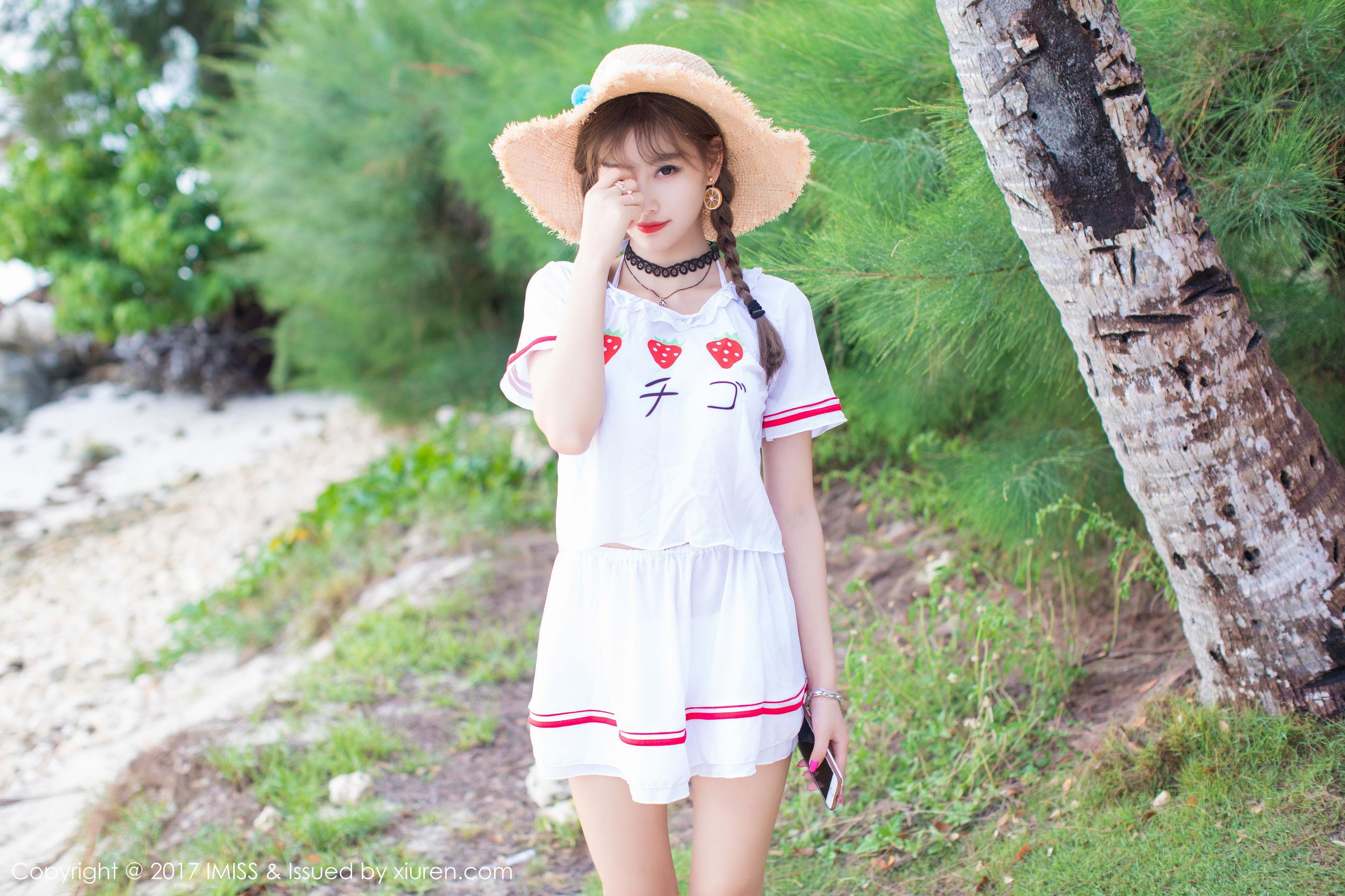 VOL.532 [爱蜜社]甜美清新阳光海边美女萌女双马尾香车美女:杨晨晨(sugar小甜心CC,杨晨晨sugar)高品质写真套图(42P)