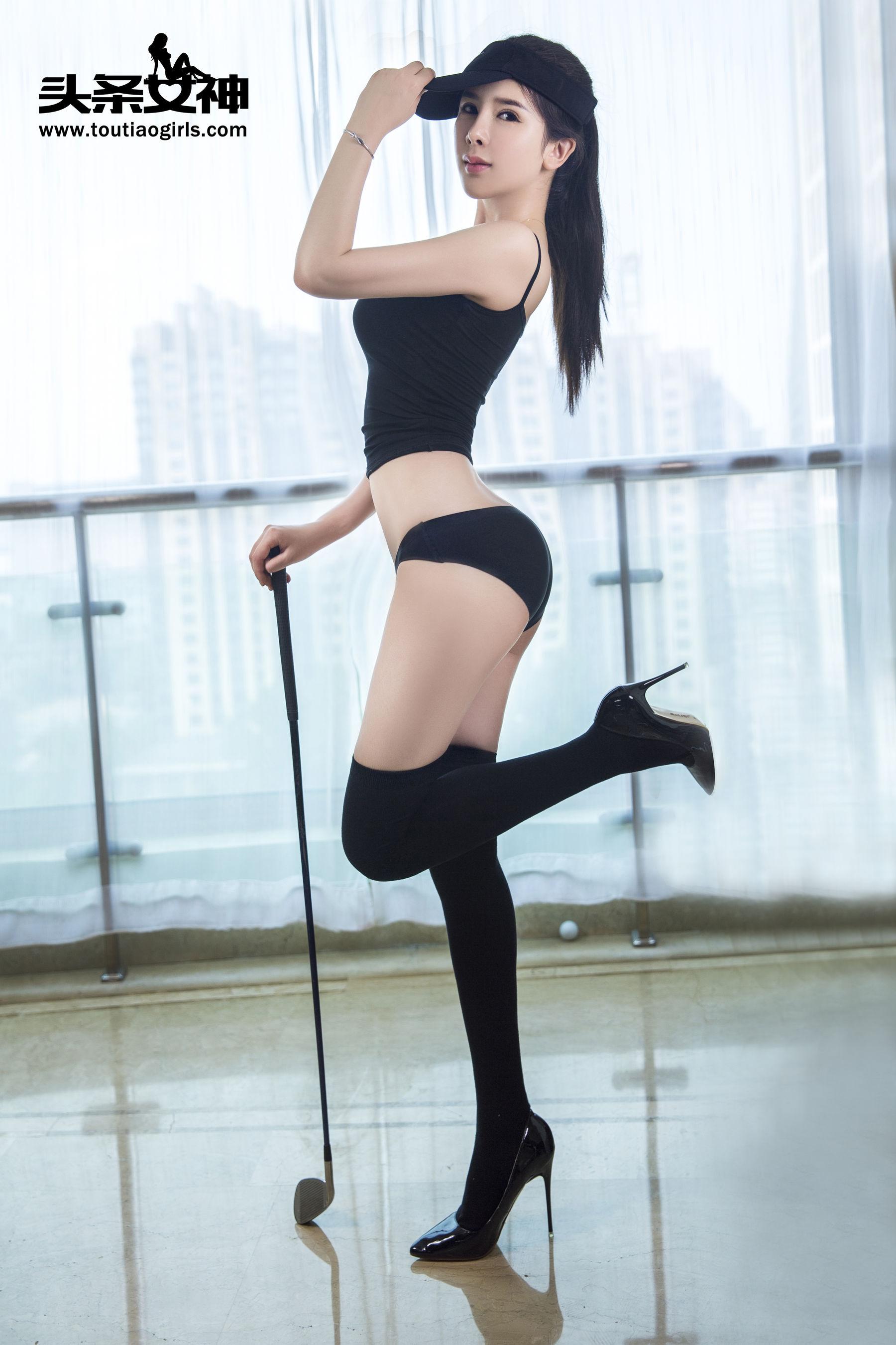 VOL.184 [头条女神]长筒袜运动装时尚美女网红背心:李丽莎(推女郎李丽莎)超高清写真套图(14P)