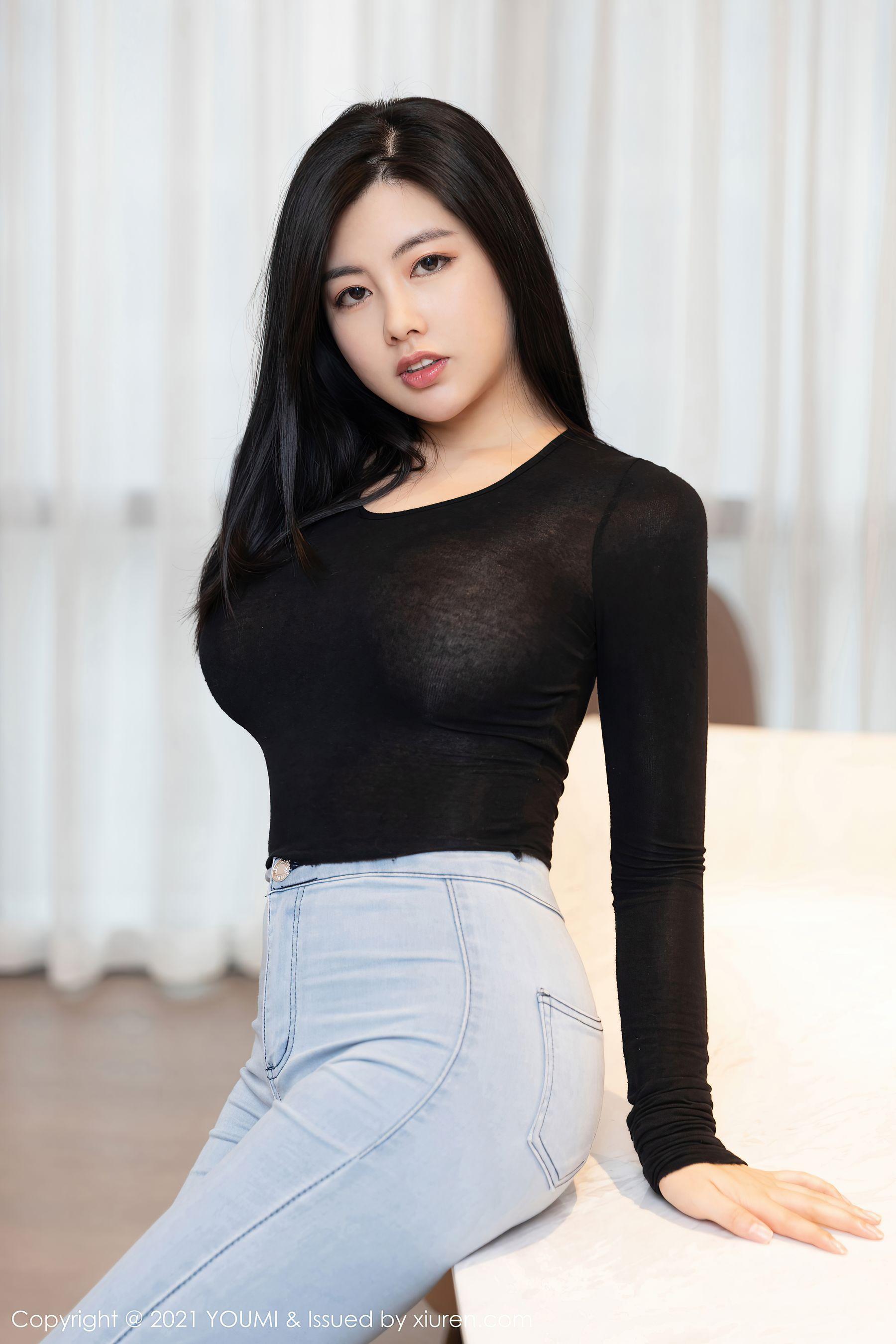 VOL.94 [尤蜜荟]牛仔翘臀紧身裤:娜露(娜露Selena)超高清写真套图(50P)