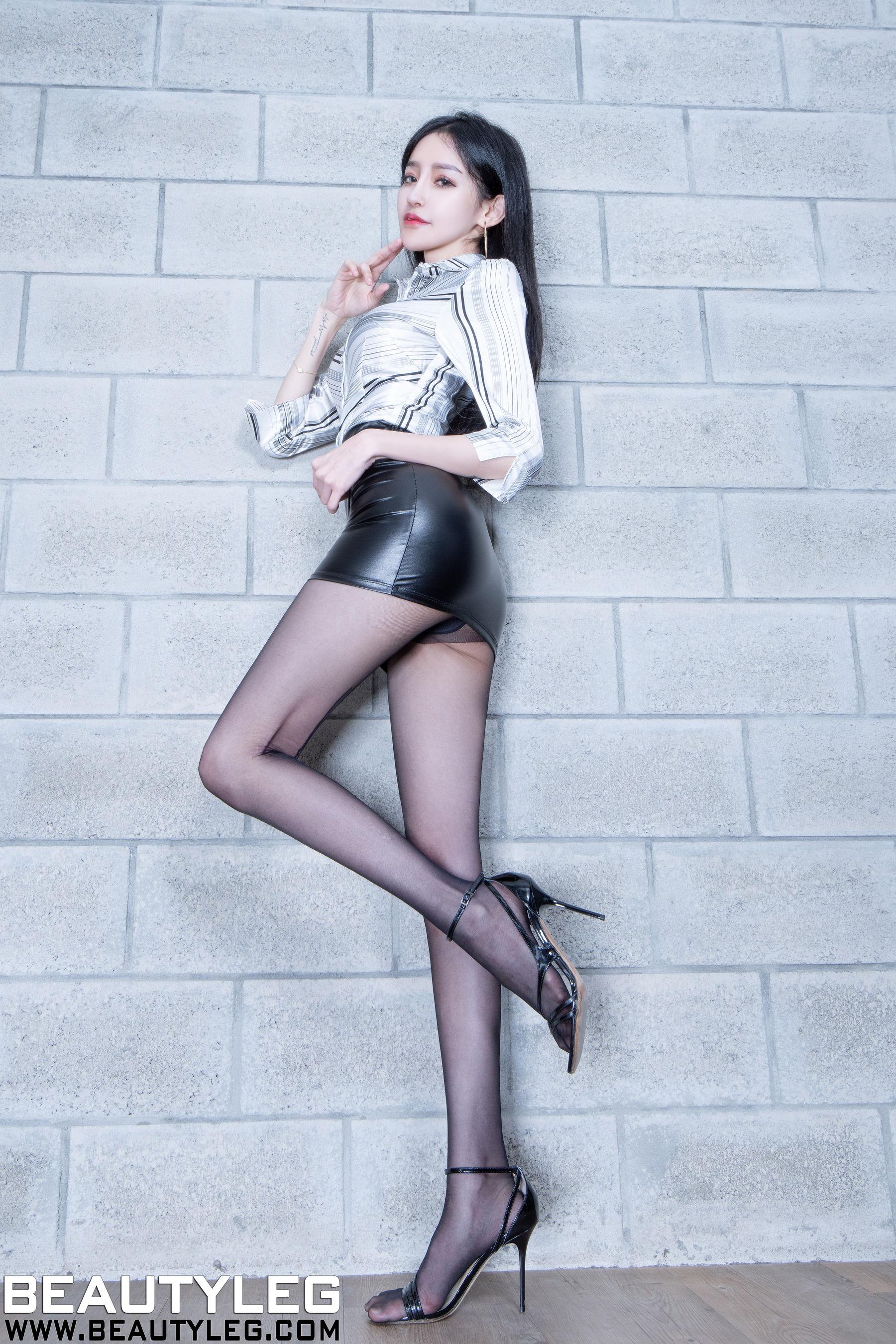 VOL.446 [Beautyleg]黑丝美腿:詹艾葳(腿模Avril,腿模Arvil)高品质写真套图(41P)