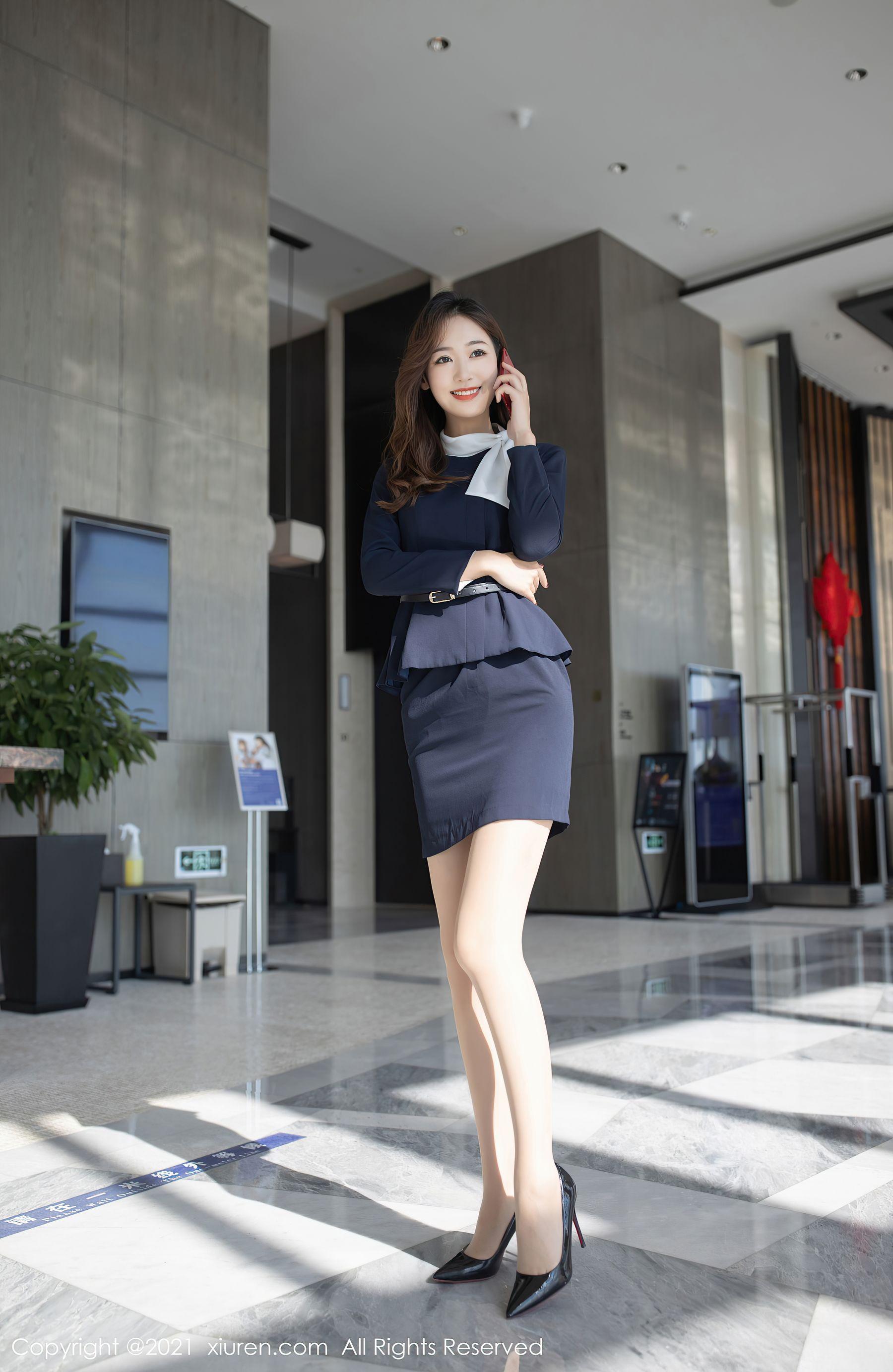 VOL.1362 [秀人网]女秘书白领丽人:唐安琪超高清写真套图(46P)