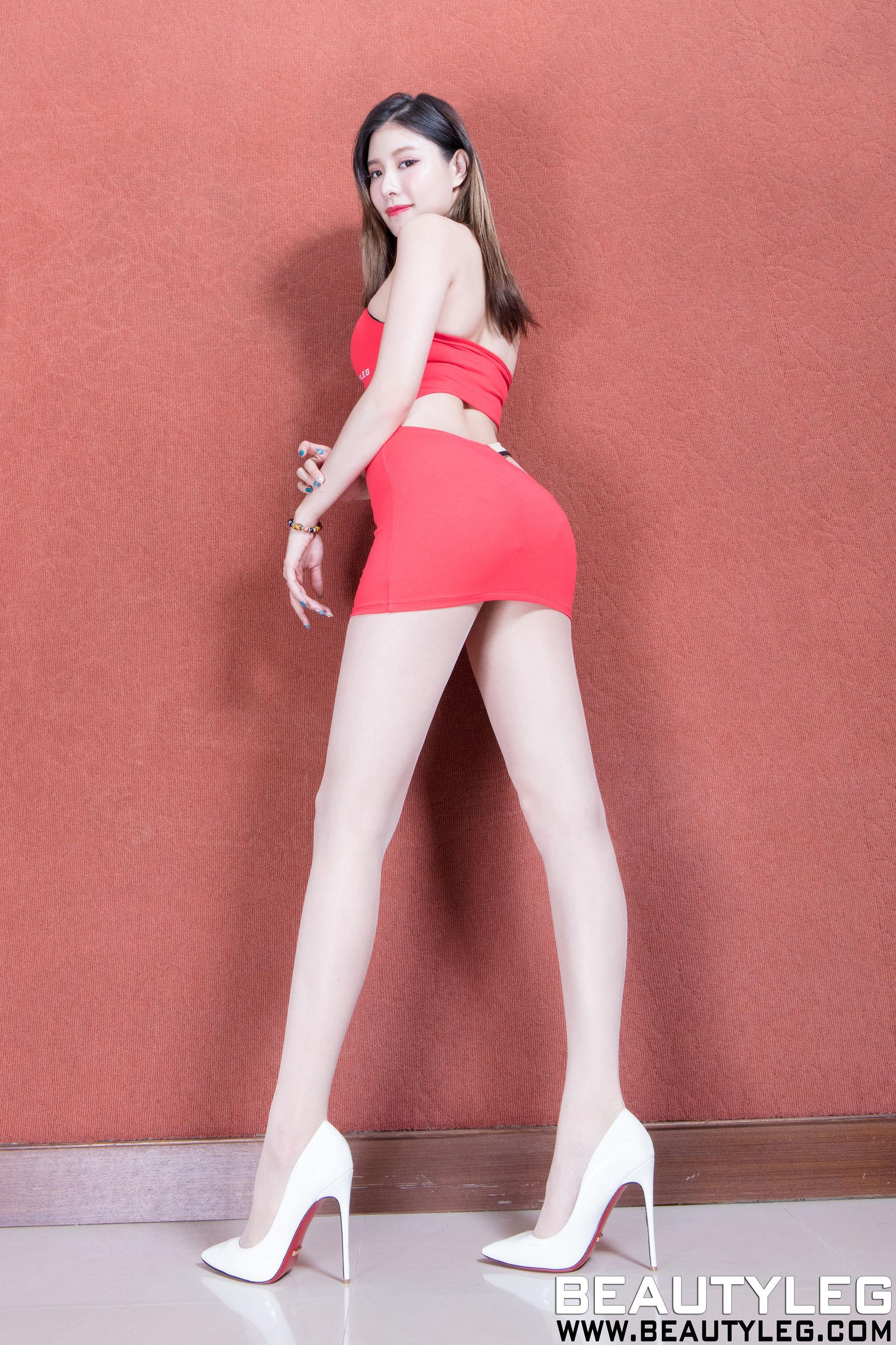 VOL.385 [Beautyleg]美腿高跟丝袜短裙:陈玉雪(腿模Abby)超高清个人性感漂亮大图(61P)