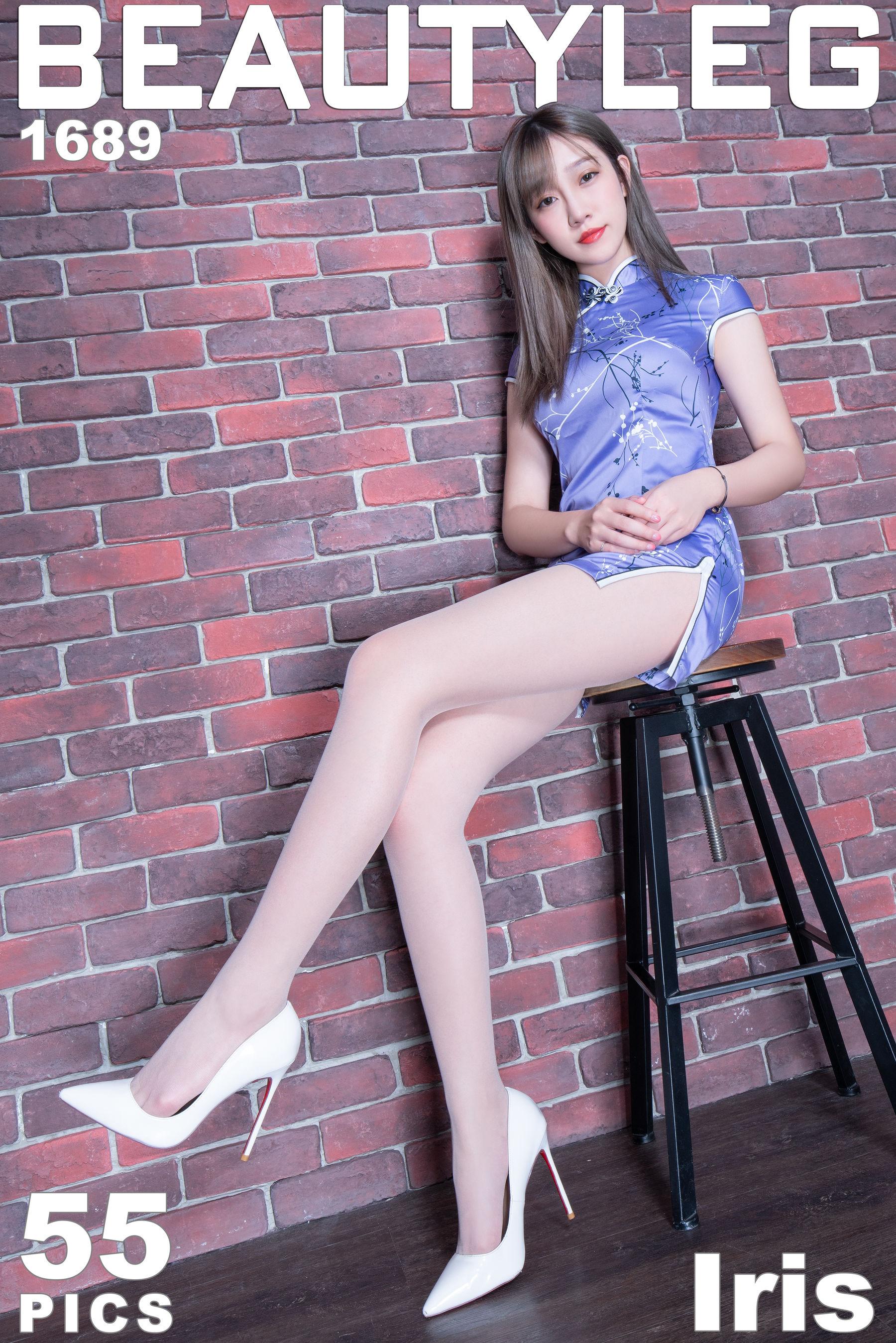 VOL.1158 [Beautyleg]旗袍丝袜美腿肉丝袜丝袜短裙:刘萱(腿模Iris)超高清个人性感漂亮大图(55P)