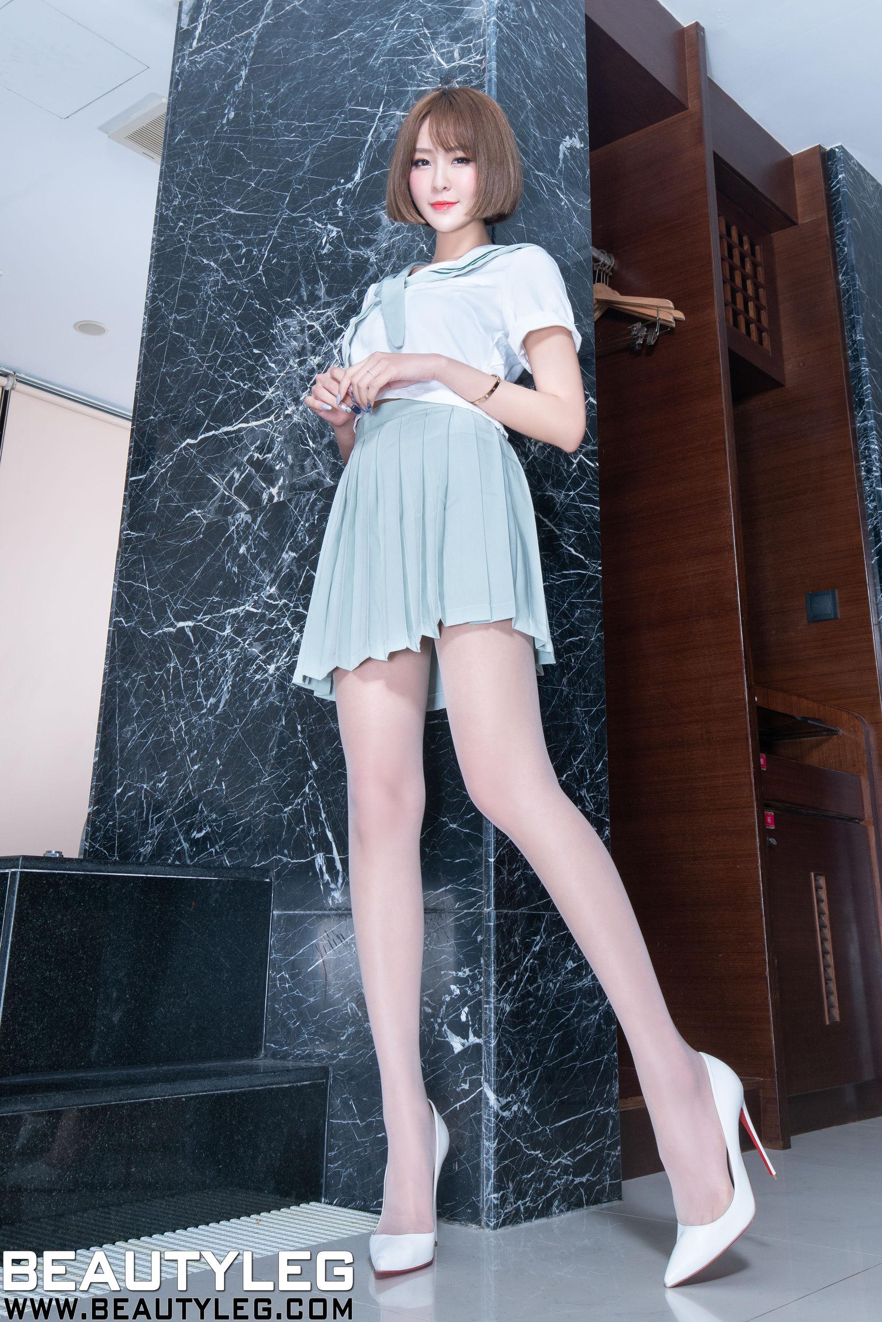 VOL.1427 [Beautyleg]美腿水手服:Winnie小雪(庄咏惠,庄温妮,腿模Winnie)超高清个人性感漂亮大图(41P)