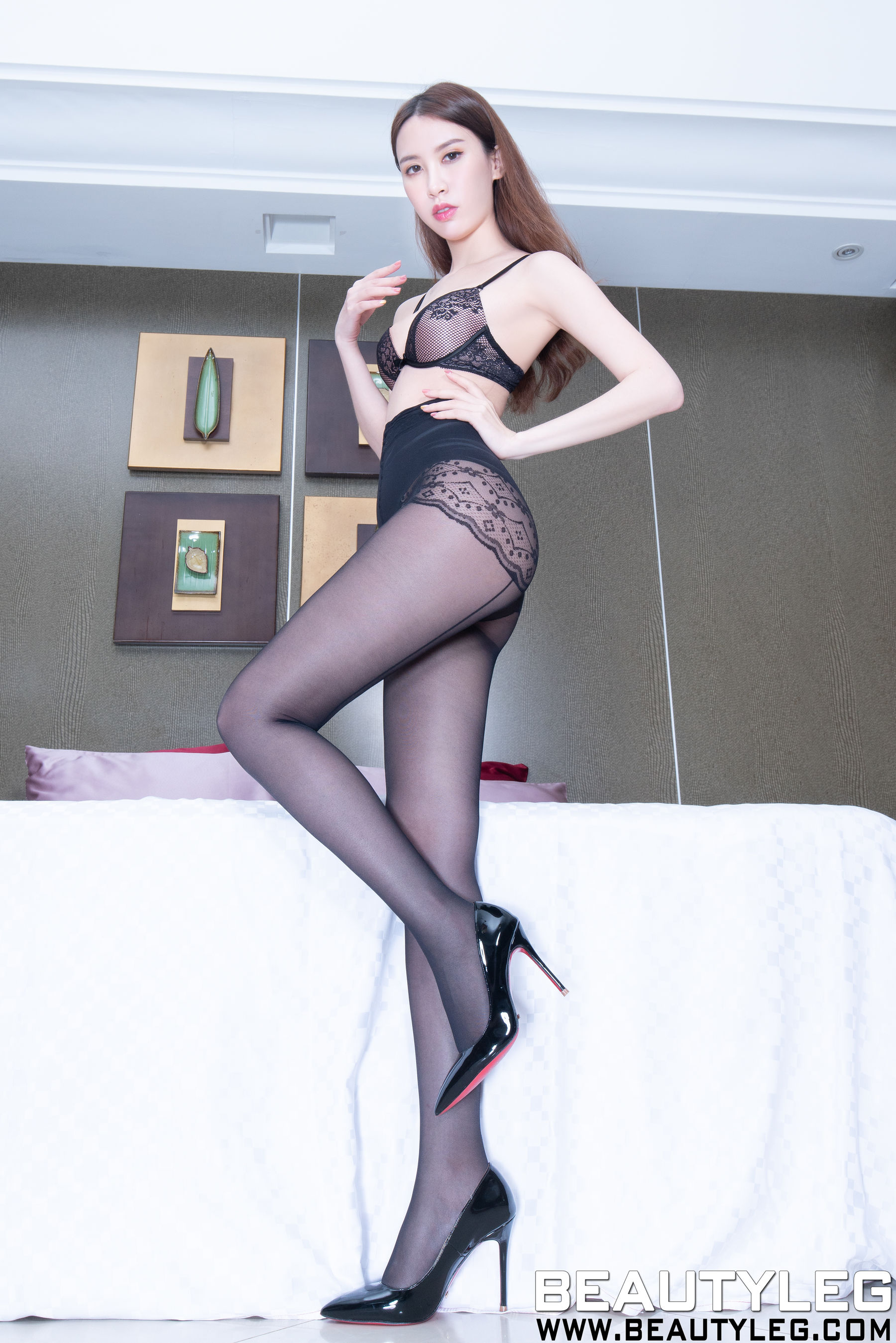 VOL.1933 [Beautyleg]黑丝美腿肉丝美腿:崔多朵(崔德蓉,腿模Stephy)超高清个人性感漂亮大图(49P)