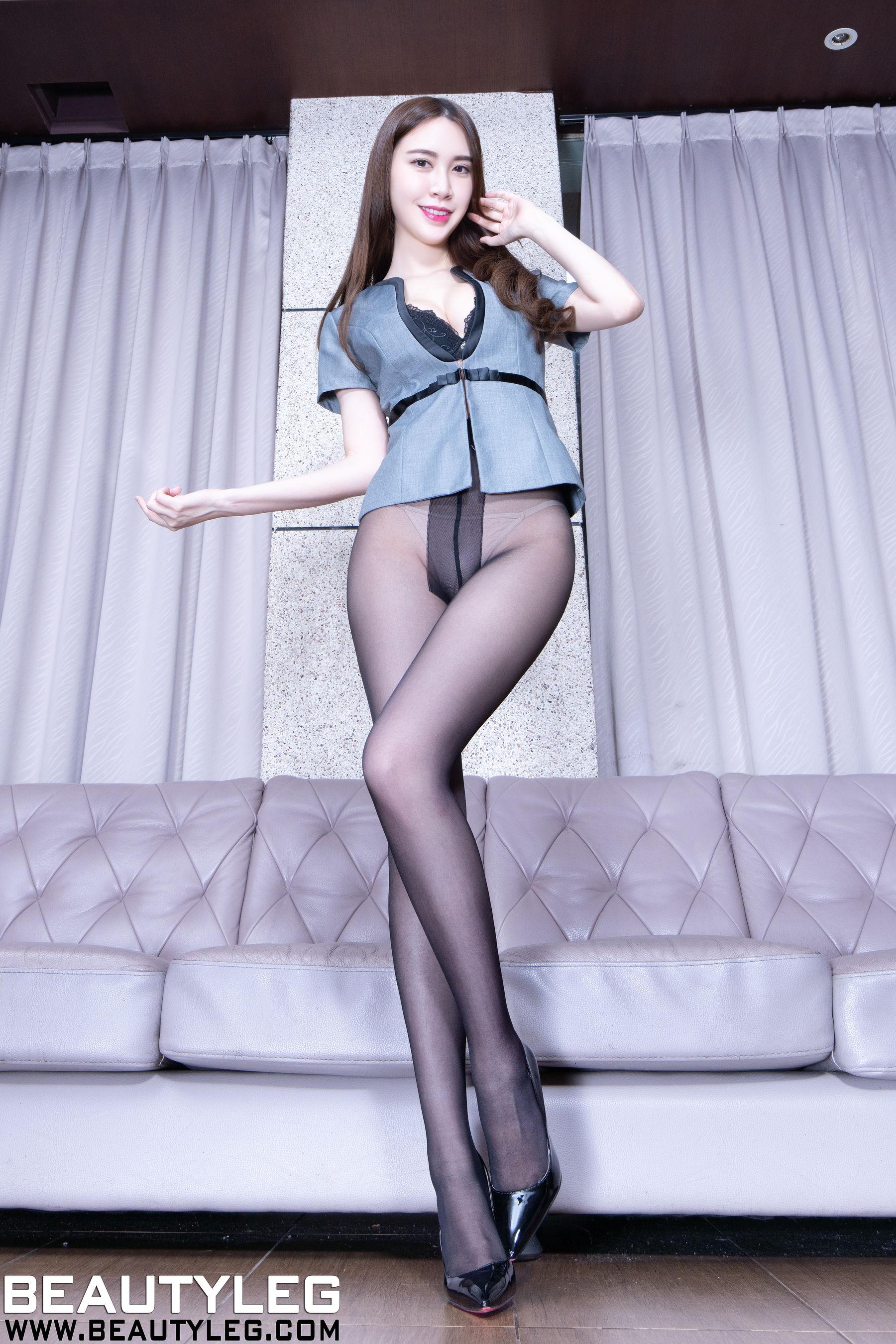 VOL.711 [Beautyleg]丝袜美腿:崔多朵(崔德蓉,腿模Stephy)超高清个人性感漂亮大图(48P)