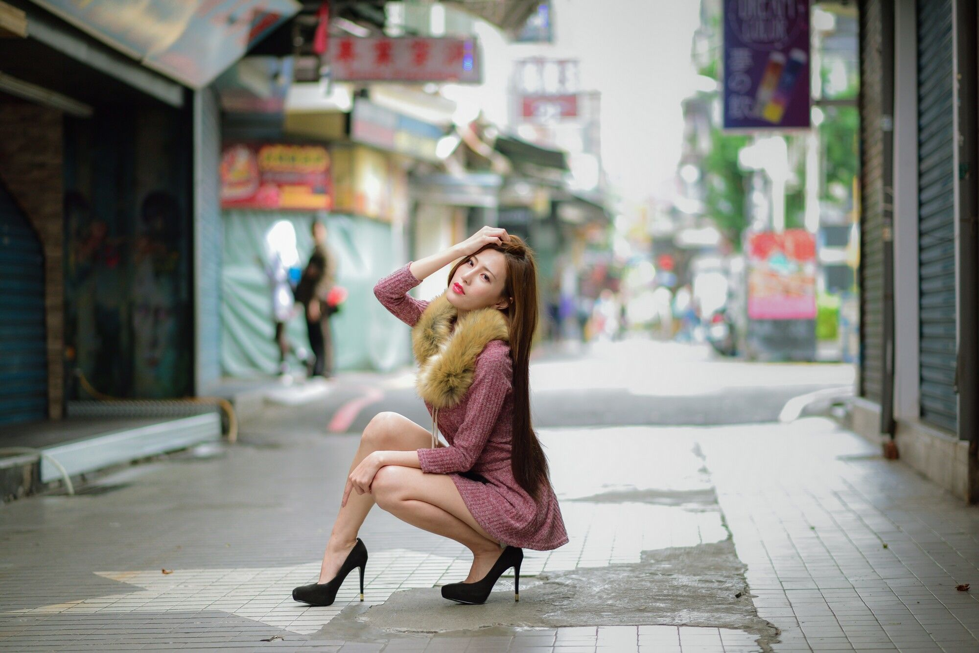 VOL.214 [台湾正妹]热裤长腿美女街拍短裙:黄艾比(腿模Abbie)超高清个人性感漂亮大图(45P)