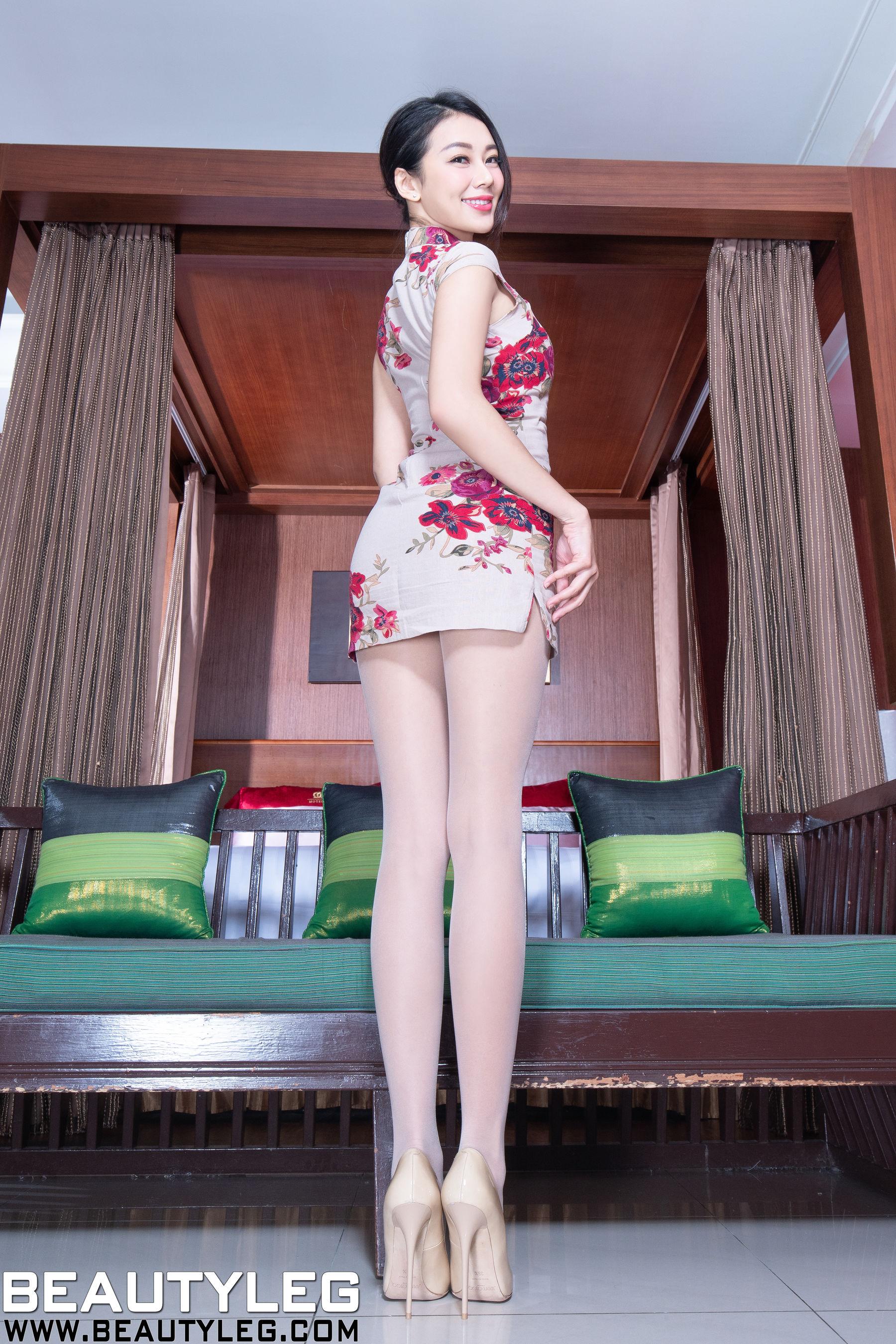 VOL.1531 [Beautyleg]美腿旗袍高跟:钱洪琳(腿模Jennifer)超高清个人性感漂亮大图(48P)