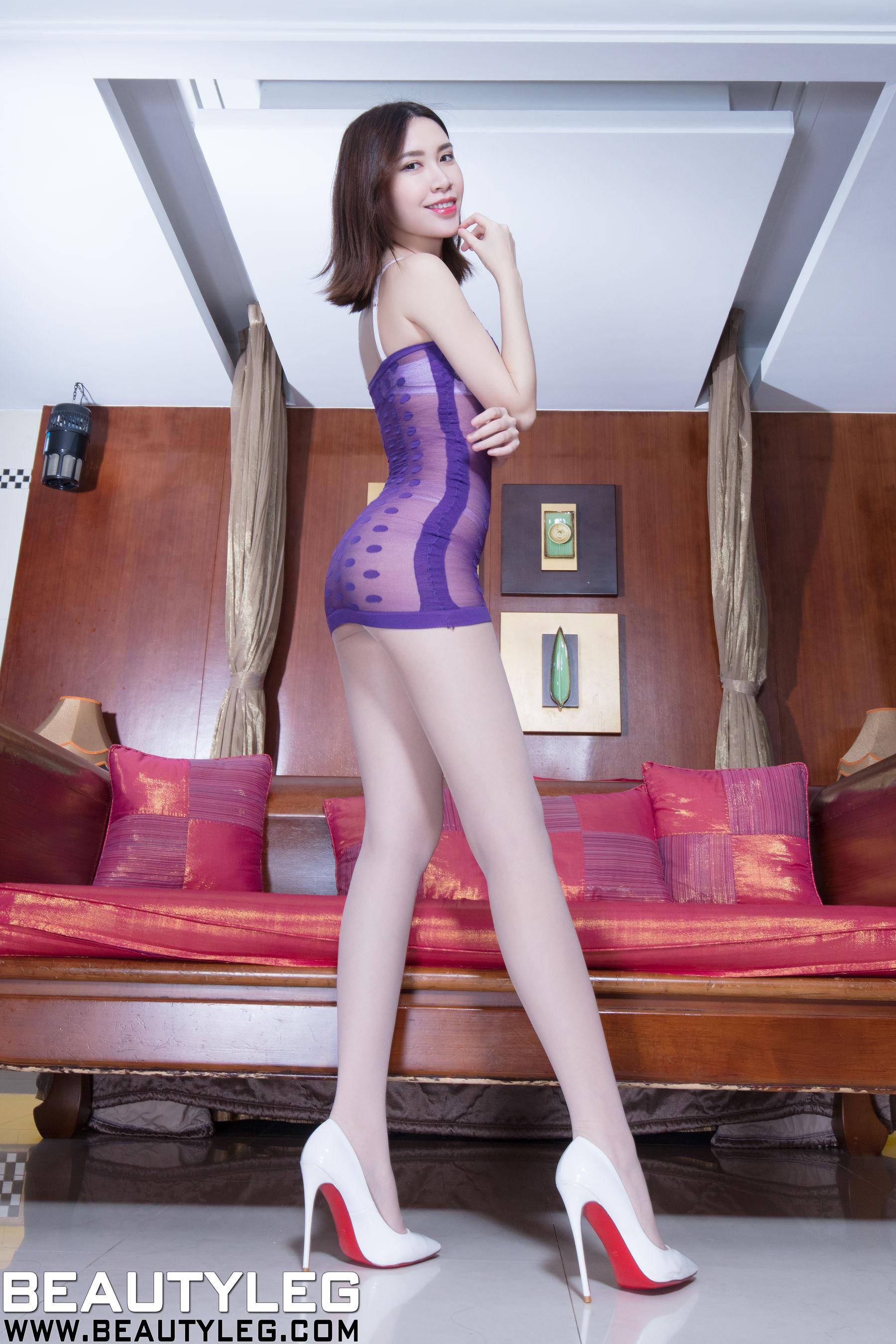 VOL.1466 [Beautyleg]丝袜美腿内衣美女长腿美女:崔多朵(崔德蓉,腿模Stephy)超高清个人性感漂亮大图(56P)