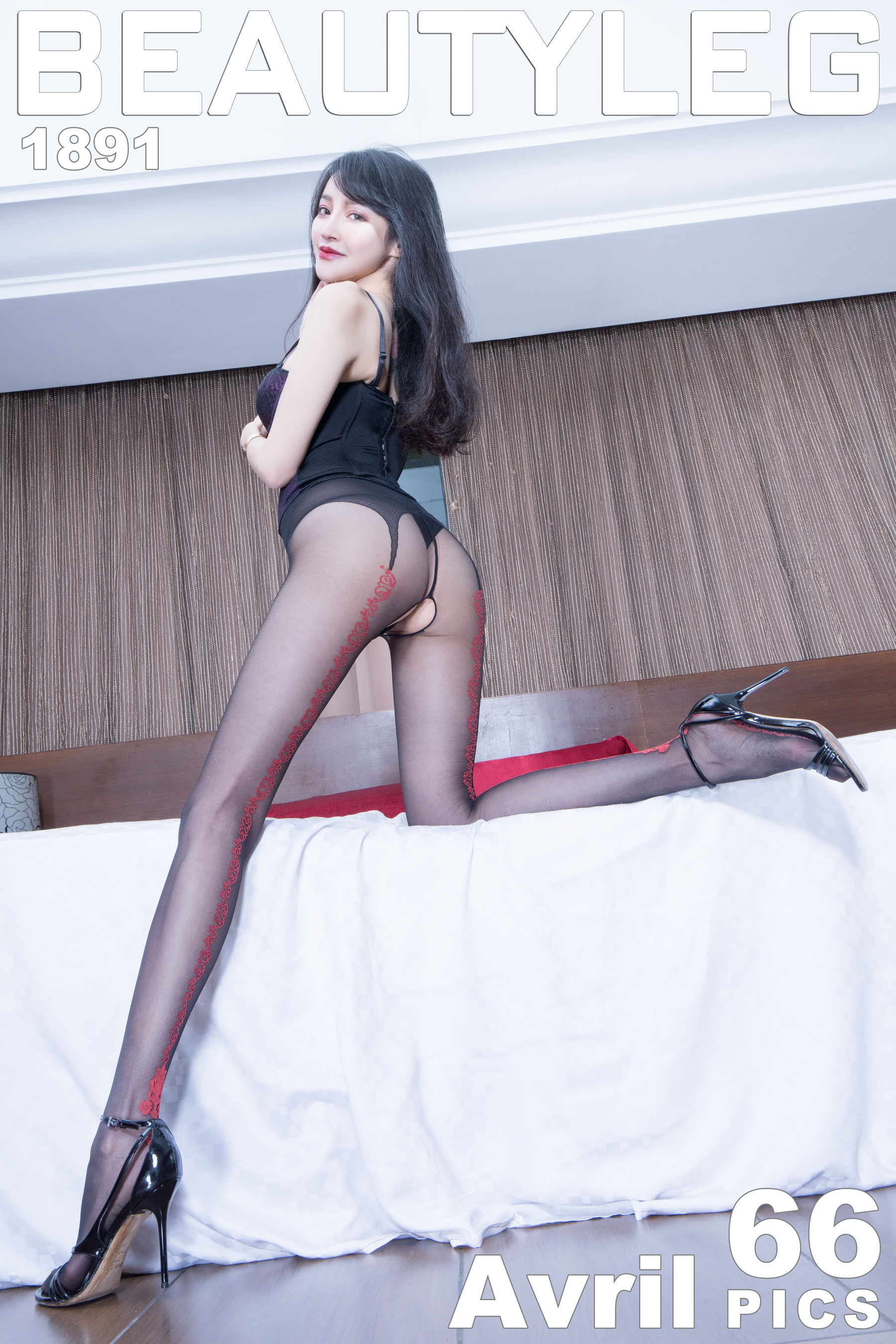 VOL.1195 [Beautyleg]丝袜美腿黑丝丝袜女郎:詹艾葳(腿模Avril,腿模Arvil)超高清个人性感漂亮大图(57P)
