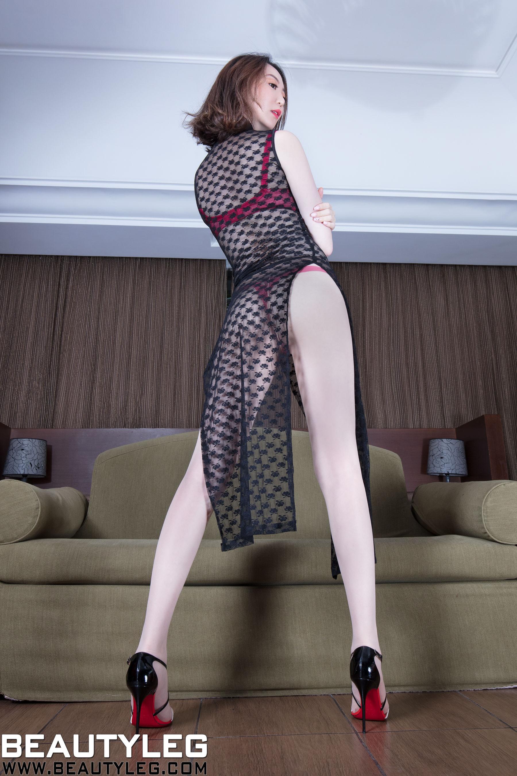 VOL.1599 [Beautyleg]蕾丝透视美女长腿美女:腿模Clear(Beautyleg Clear)超高清个人性感漂亮大图(50P)
