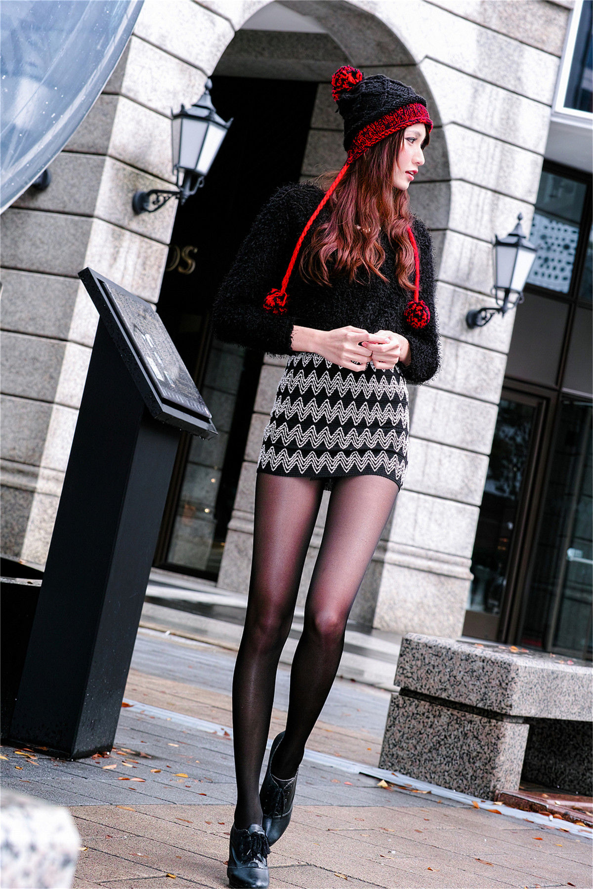 VOL.1401 [台湾正妹]丝袜美腿长腿美女街拍高跟:蔡译心(Candice)超高清个人性感漂亮大图(89P)