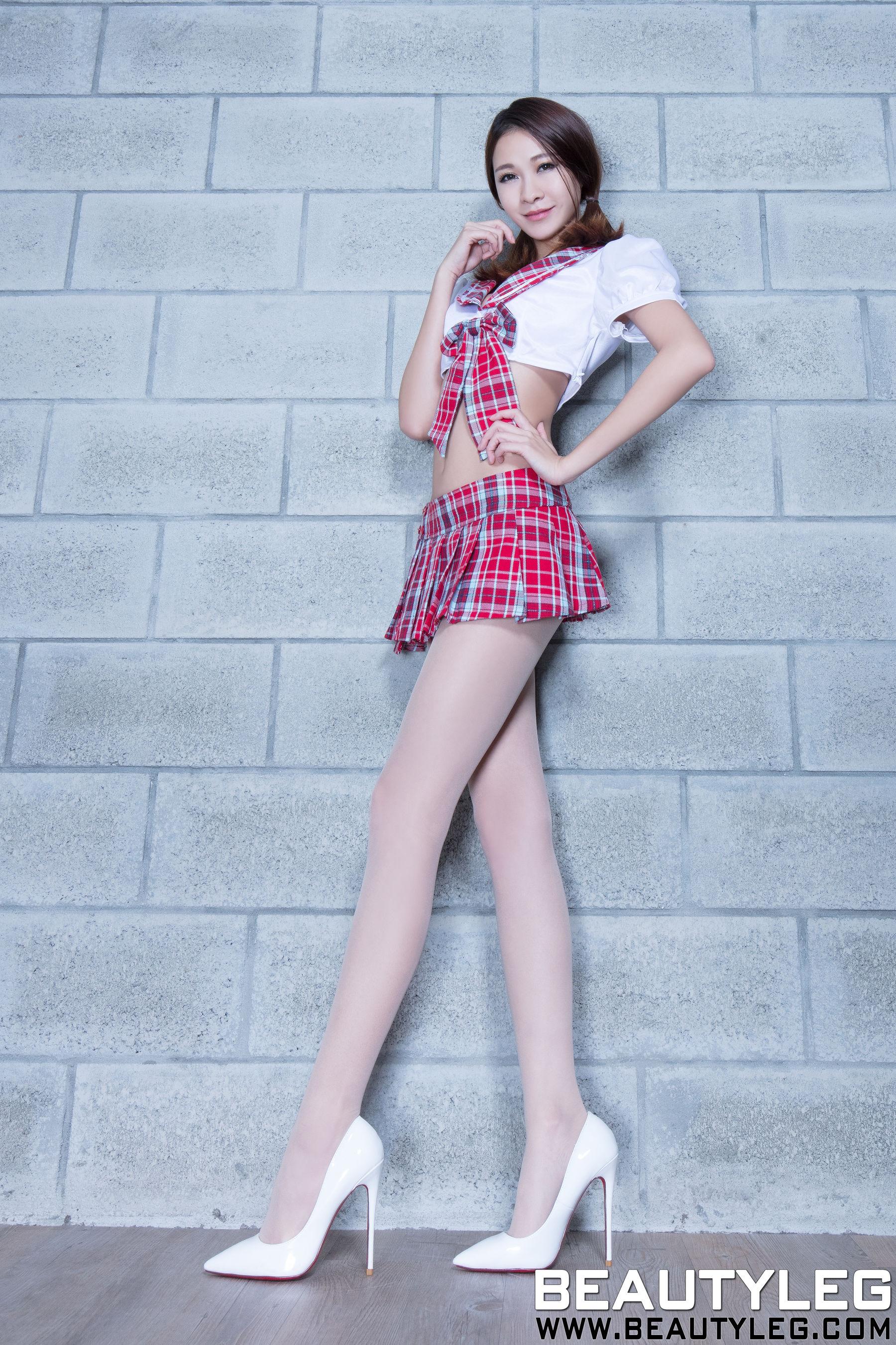 VOL.1017 [Beautyleg]制服丝袜美腿长腿美女:黄镫娴(腿模Neko)超高清个人性感漂亮大图(61P)