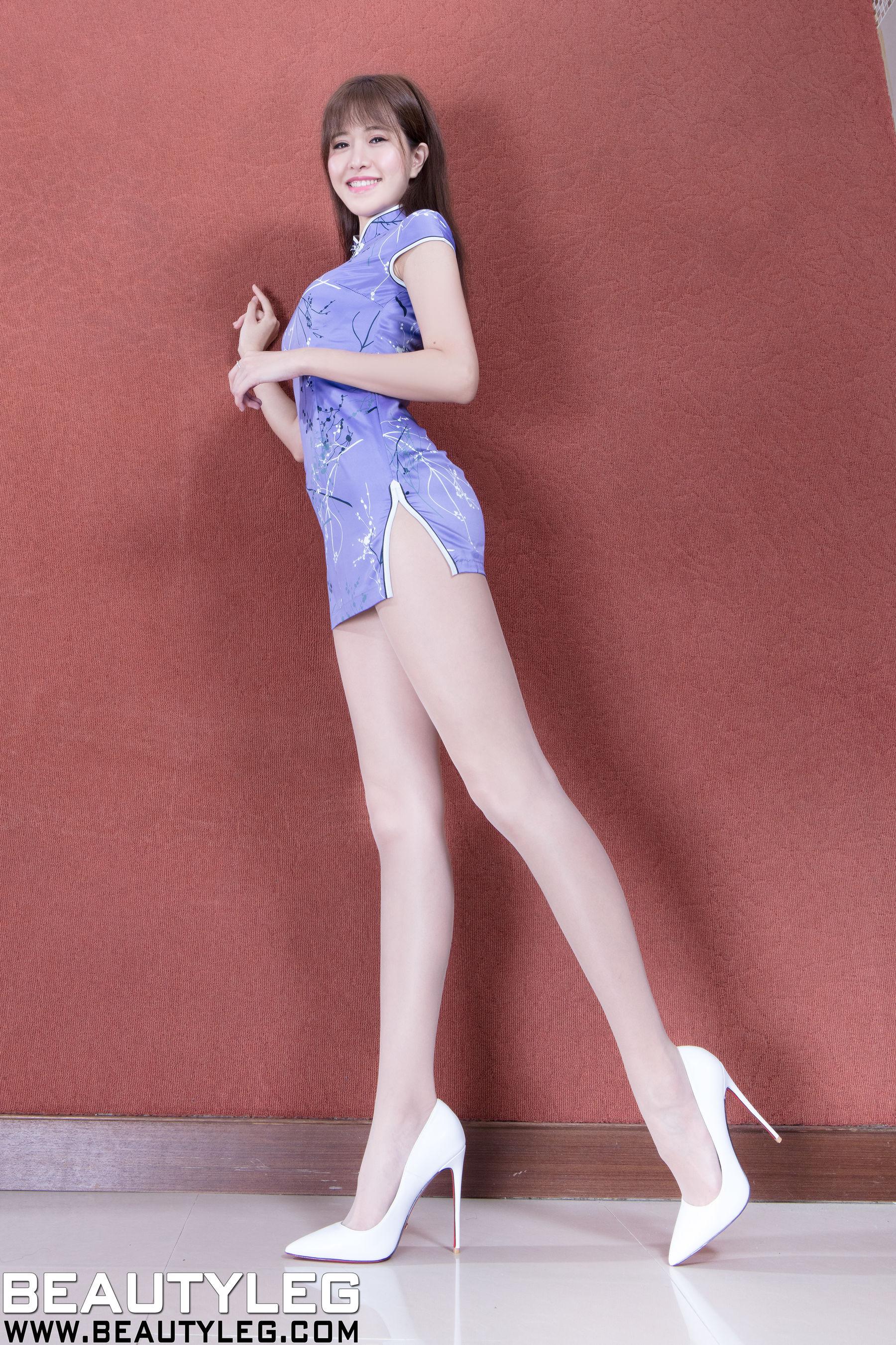VOL.554 [Beautyleg]旗袍高跟肉丝袜:张欣慈(腿模Olivia)超高清个人性感漂亮大图(81P)