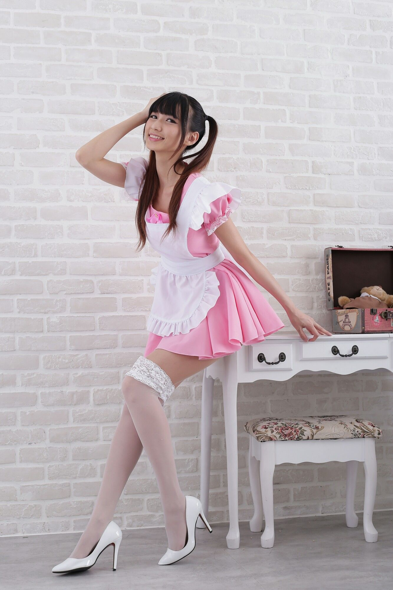 VOL.629 [台湾正妹]可爱女仆白丝:蔡译心(Candice)超高清个人性感漂亮大图(57P)
