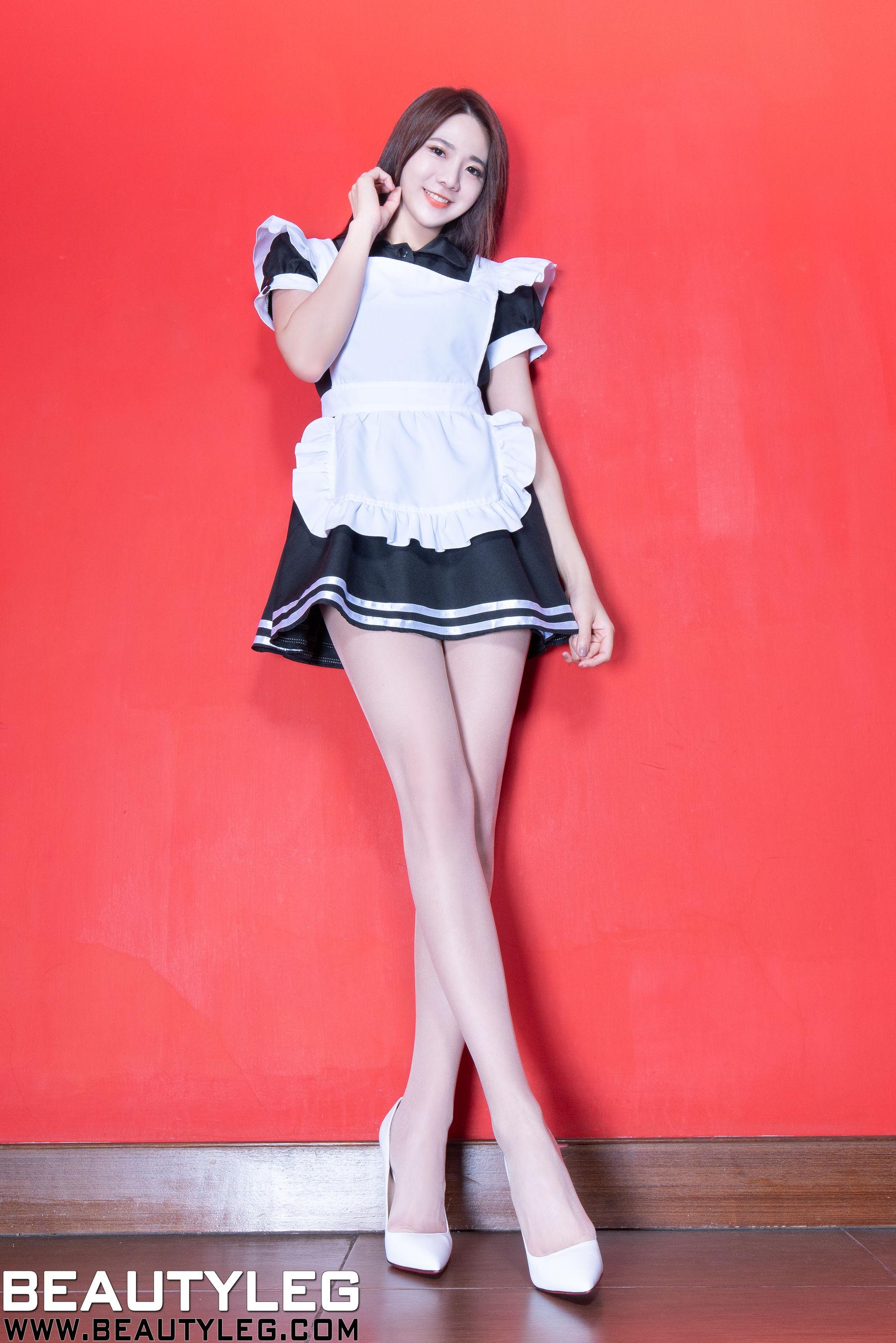 VOL.938 [Beautyleg]女仆高跟美腿:腿模Jasmine超高清个人性感漂亮大图(56P)
