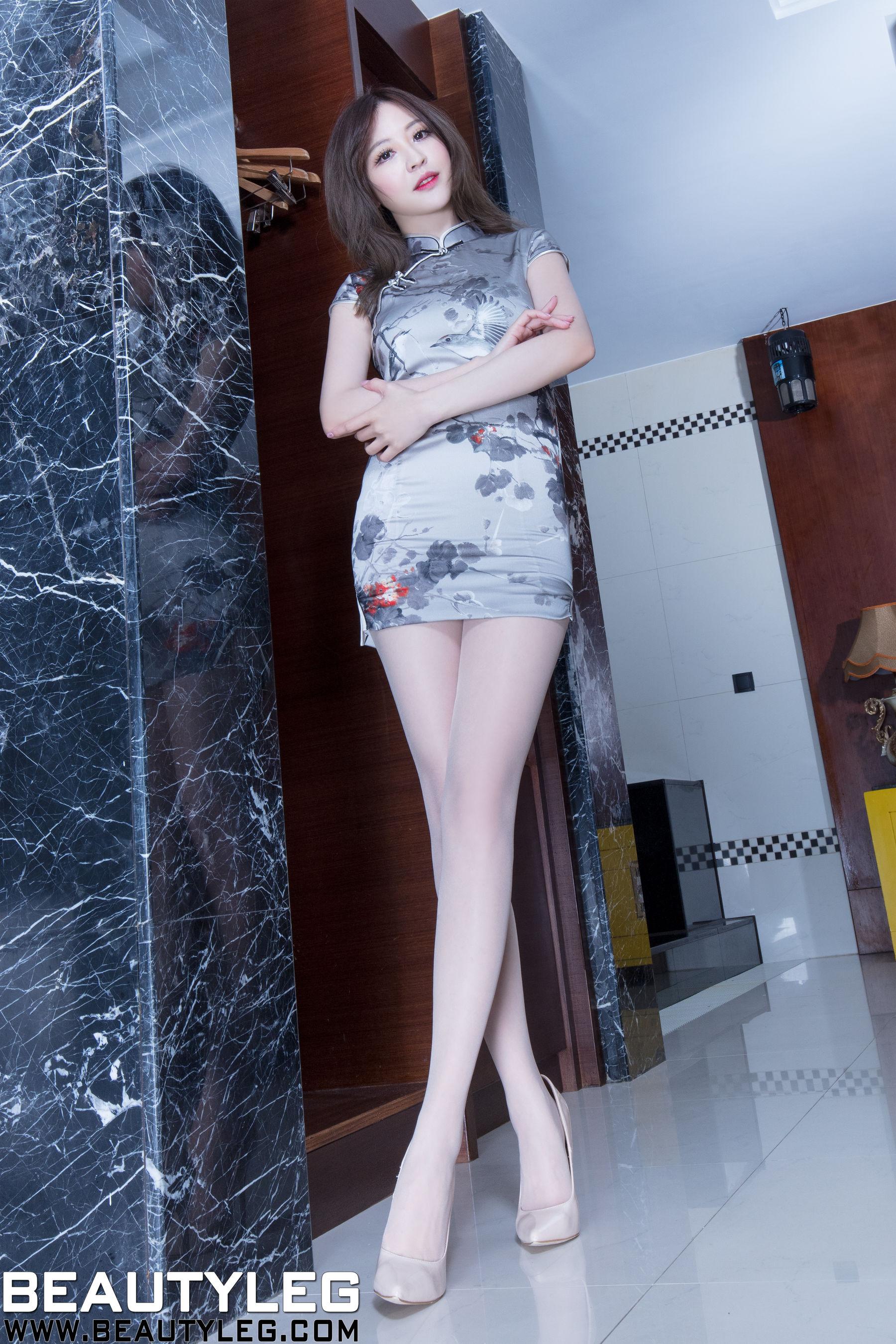 VOL.1803 [Beautyleg]旗袍丝袜美腿丝袜制服:倪千凌(腿模Lucy,陈佳筠)超高清个人性感漂亮大图(44P)