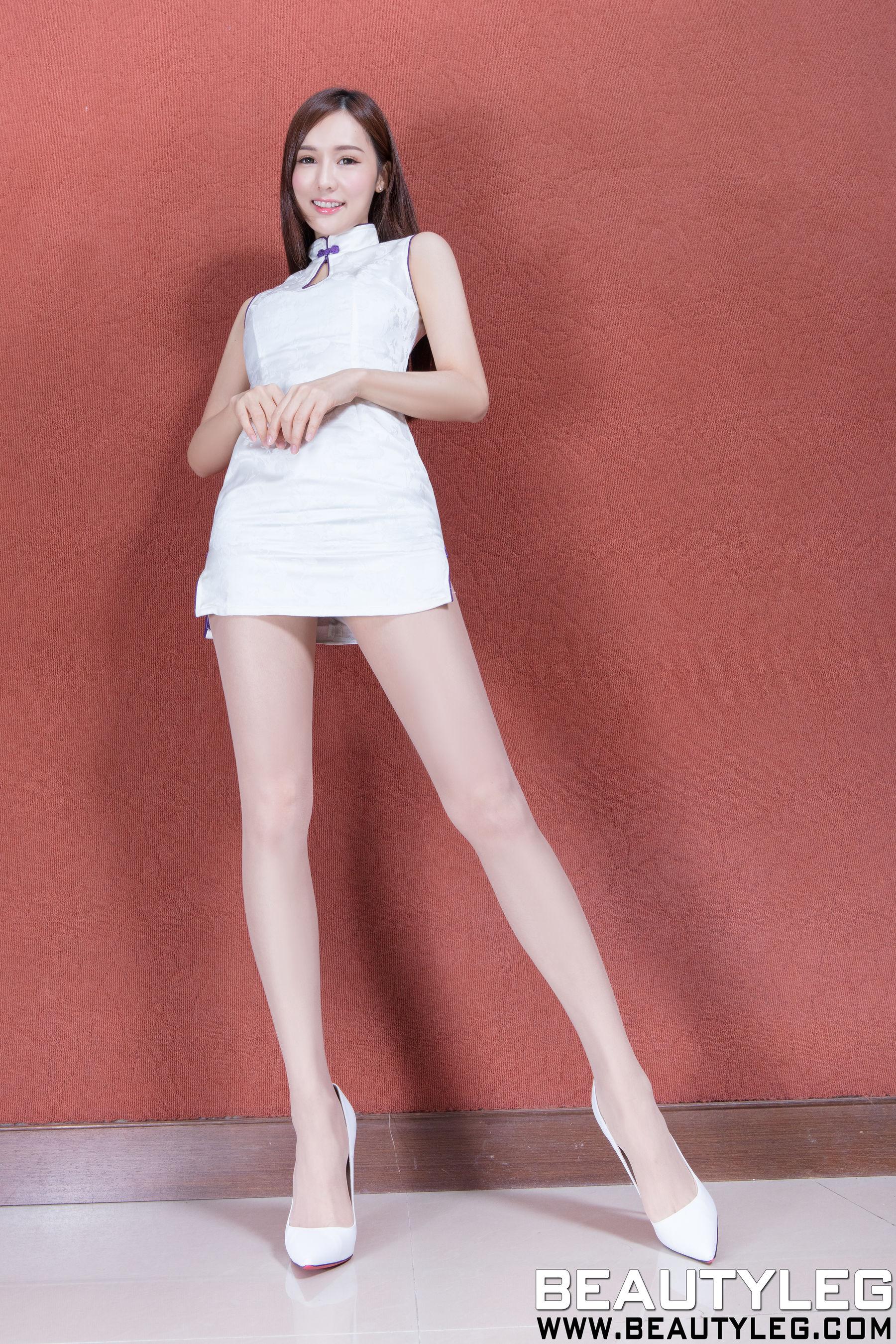 VOL.1481 [Beautyleg]美腿旗袍高跟肉丝袜:腿模Amber(Beautyleg Amber)超高清个人性感漂亮大图(50P)