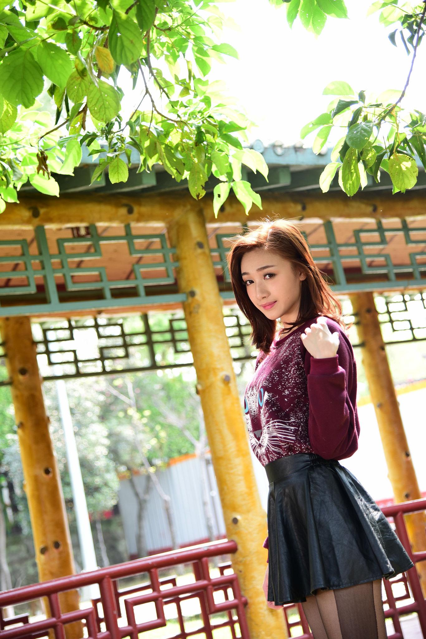 VOL.495 [台湾正妹]清新外拍养眼:段璟乐(段乐乐)超高清个人性感漂亮大图(36P)