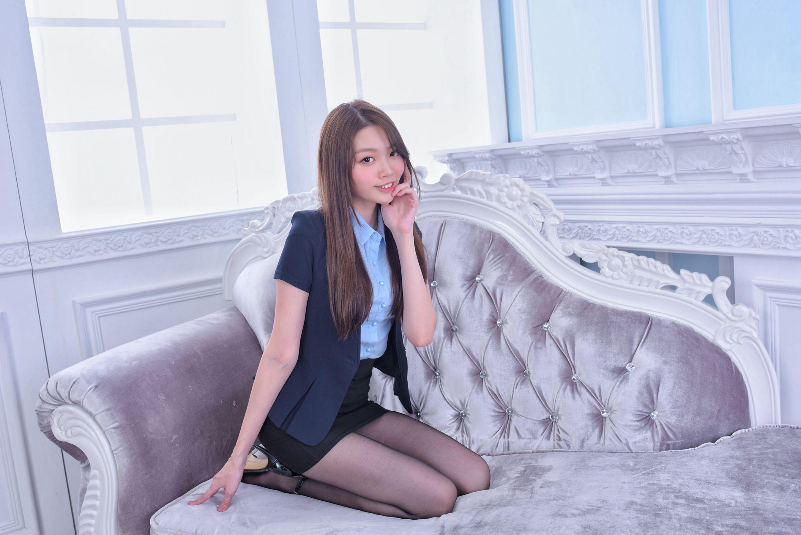 VOL.869 [台湾正妹]黑丝包臀裙美女白领丽人:林少淇超高清个人性感漂亮大图(56P)
