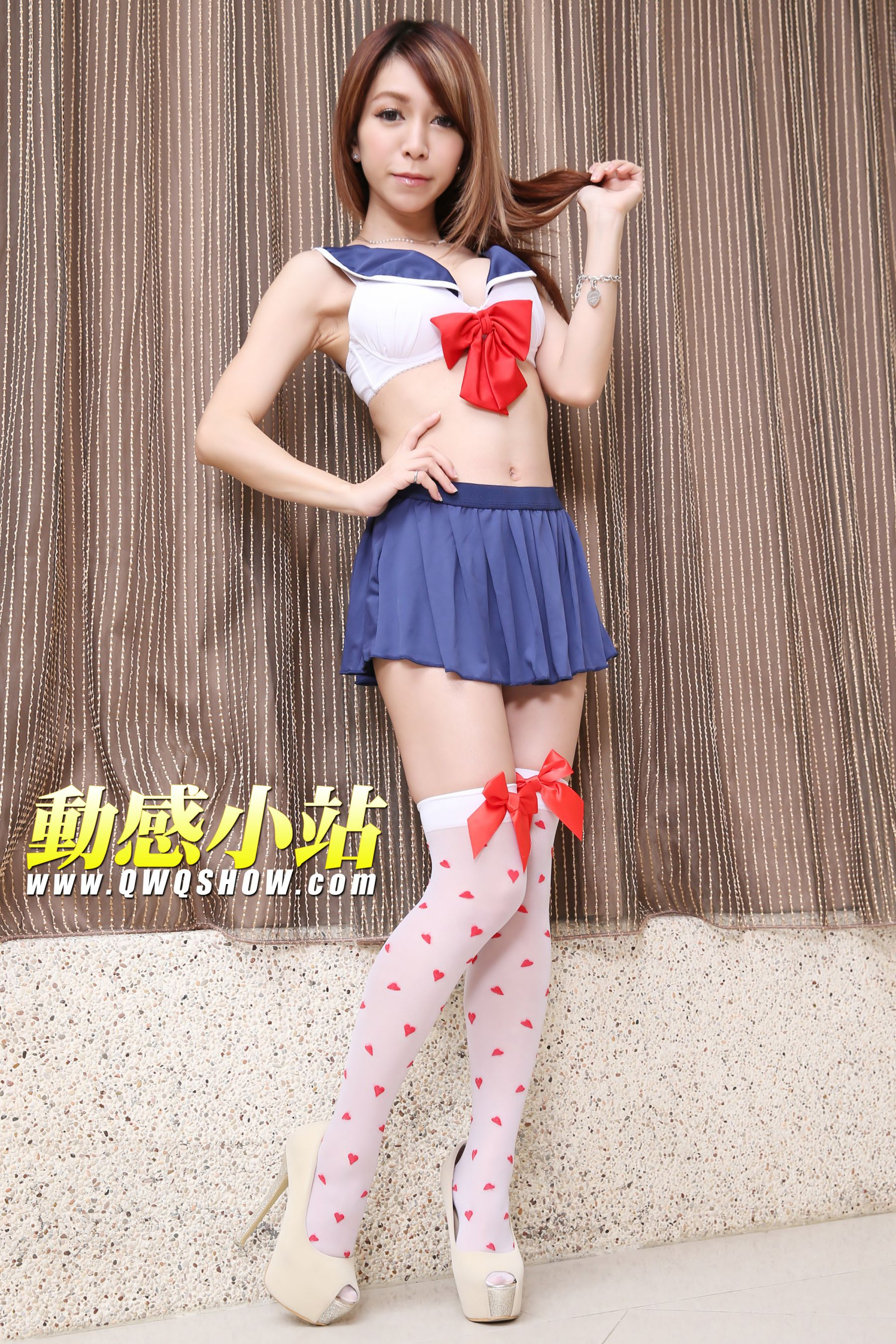 VOL.550 [动感之星]水手服美少女白丝:布布(动感小站布布,动感之星布布)超高清个人性感漂亮大图(85P)