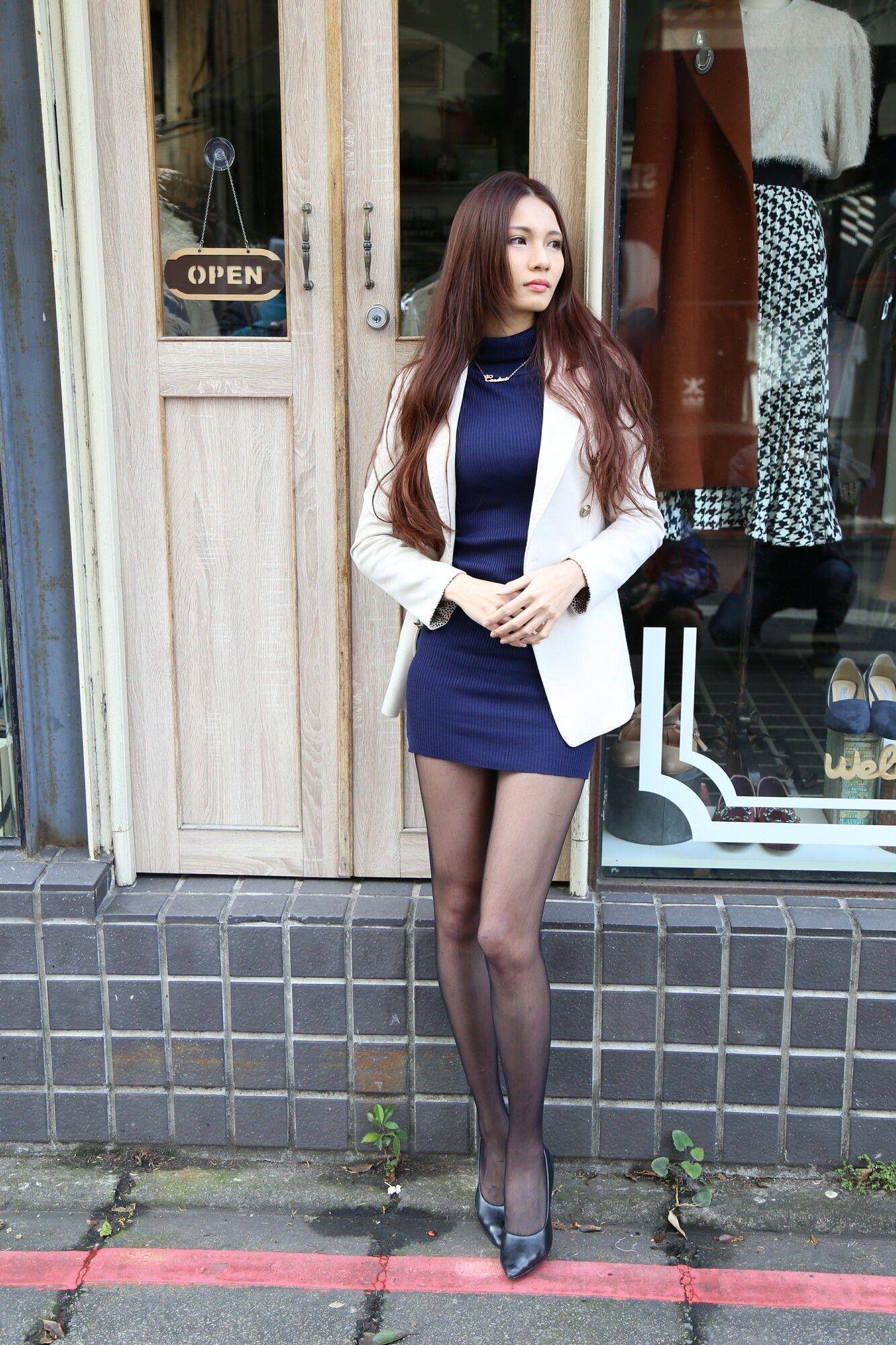 VOL.366 [台湾正妹]丝袜美腿黑丝西装美女街拍美腿:蔡译心(Candice)超高清个人性感漂亮大图(120P)