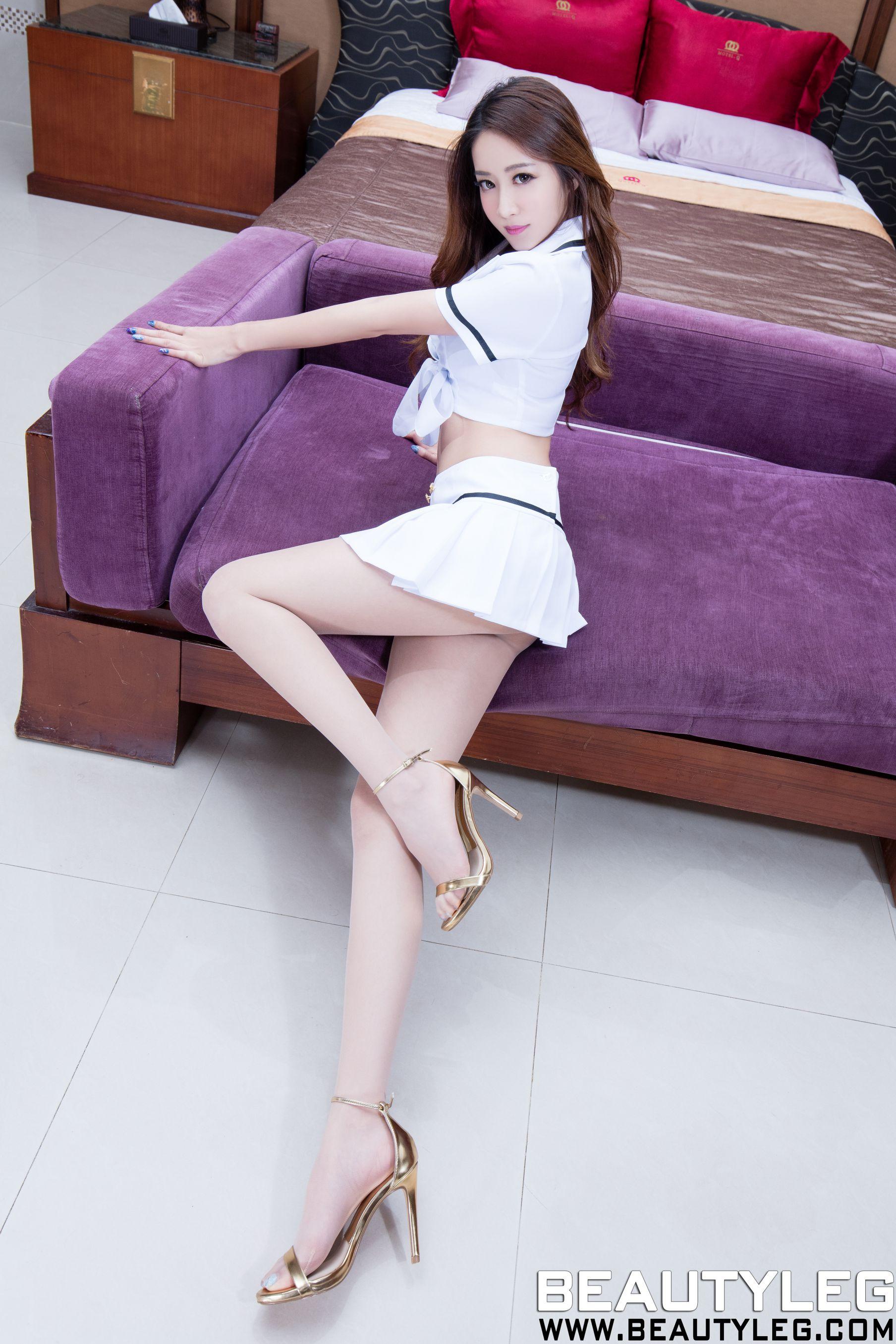 VOL.1856 [Beautyleg]制服美腿:康凯乐(腿模Kaylar)高品质写真套图(42P)