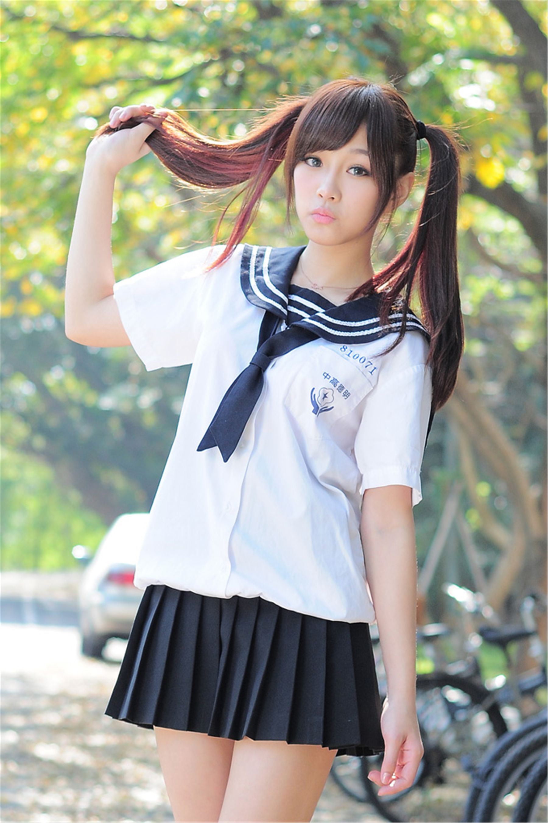 VOL.455 [网络美女]校服正妹乙女:涼涼高品质写真套图(18P)