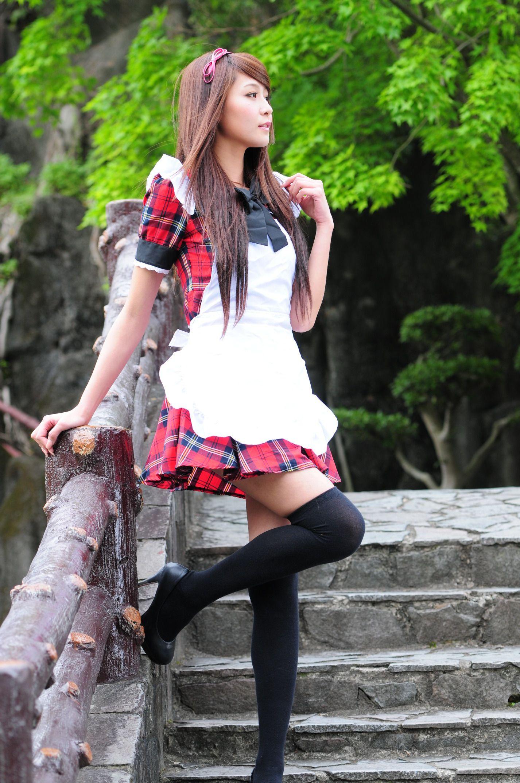 VOL.1327 [网络美女]长筒袜可爱女仆清新:Winnie小雪(庄咏惠,庄温妮,腿模Winnie)高品质写真套图(87P)