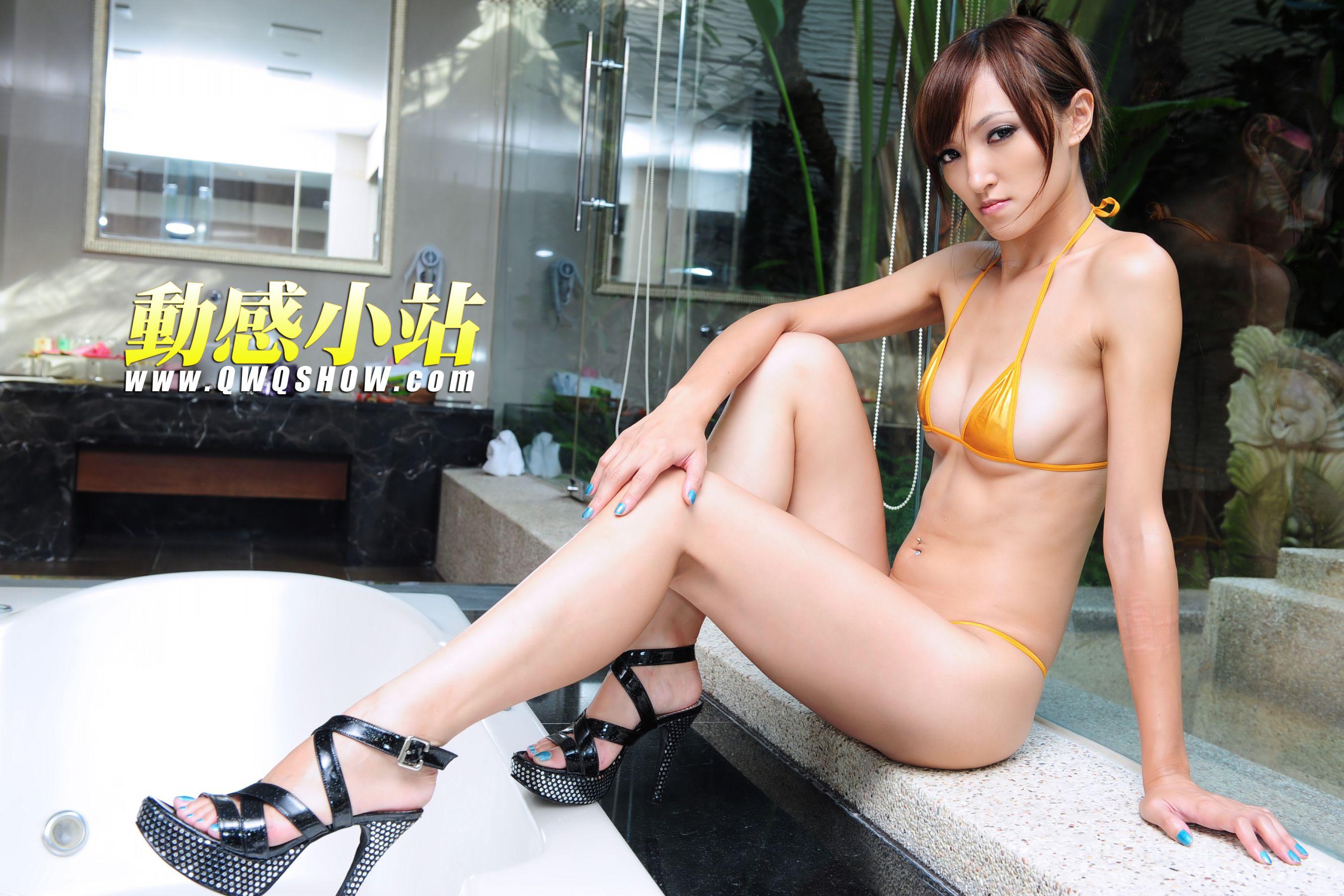VOL.1000 [动感之星]泳装高跟美腿:小猫(动感小站小猫,动感之星小猫)高品质写真套图(34P)