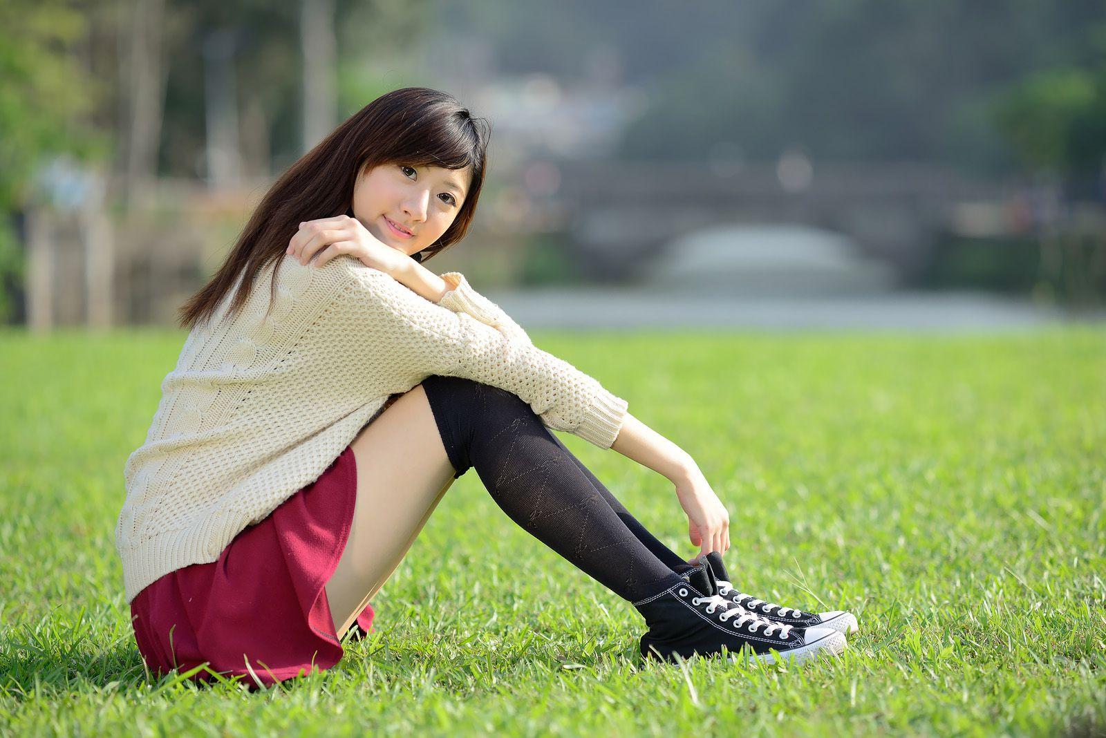 VOL.247 [台湾正妹]可爱清纯甜美乙女:林茉晶(腿模Queena)高品质写真套图(44P)