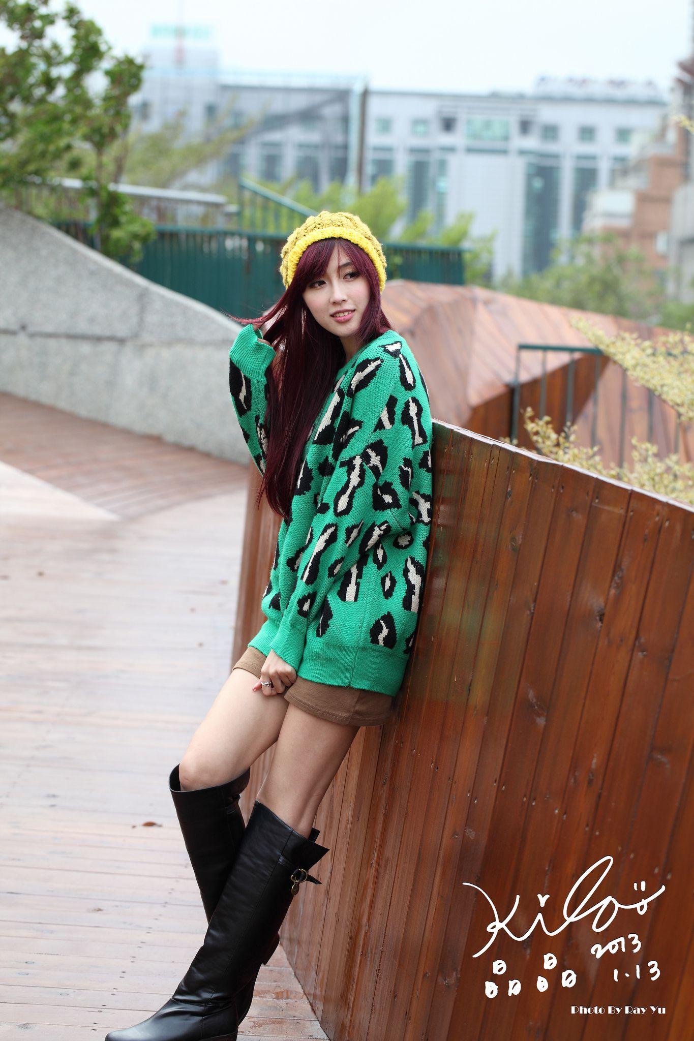 VOL.1055 [台湾正妹]街拍长发美女长靴美女:金允乔(廖挺伶,kila晶晶)高品质写真套图(84P)
