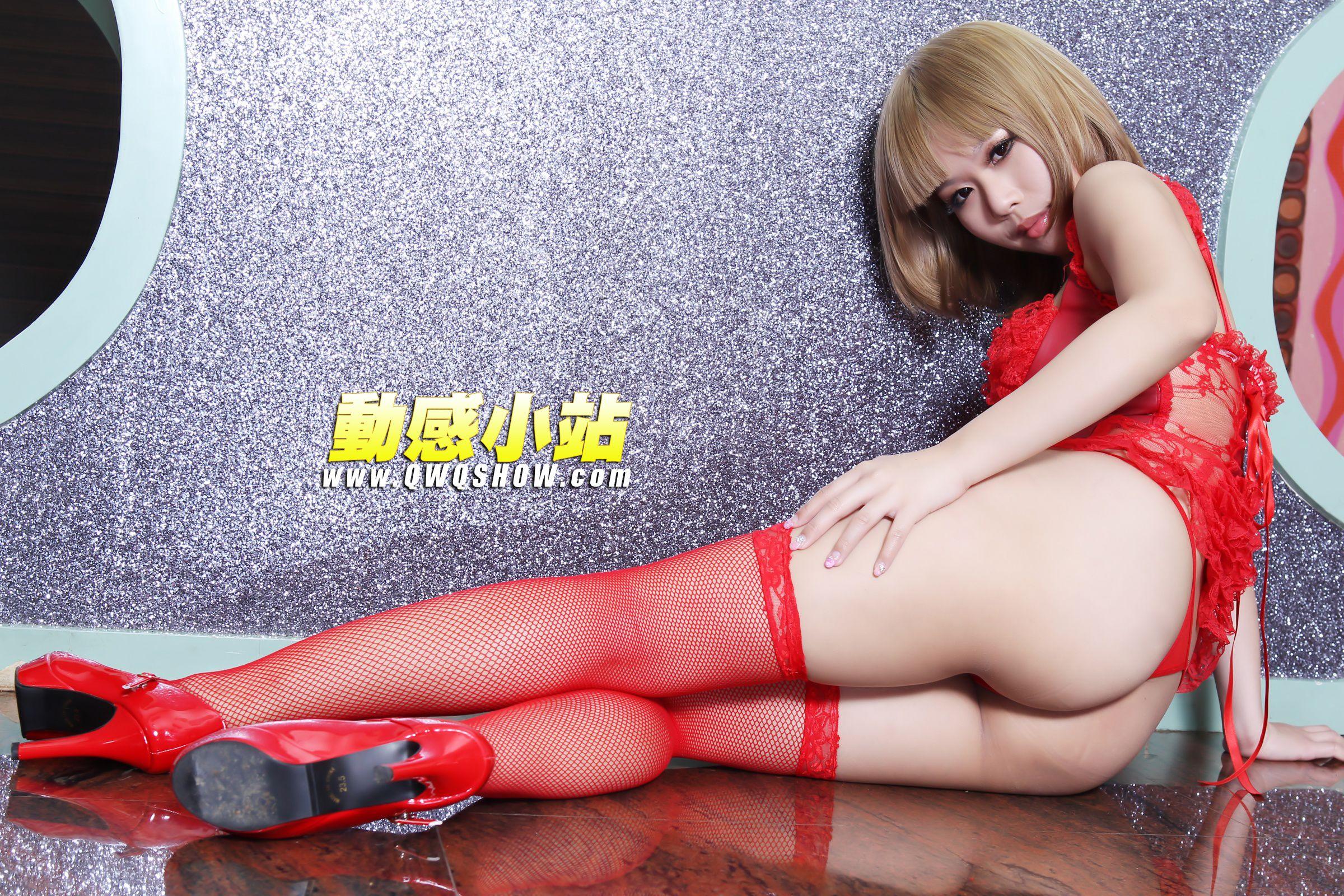 VOL.1452 [动感之星]诱惑情趣内衣网袜红色丝袜:妖精(动感小站妖精,动感之星妖精)高品质写真套图(74P)