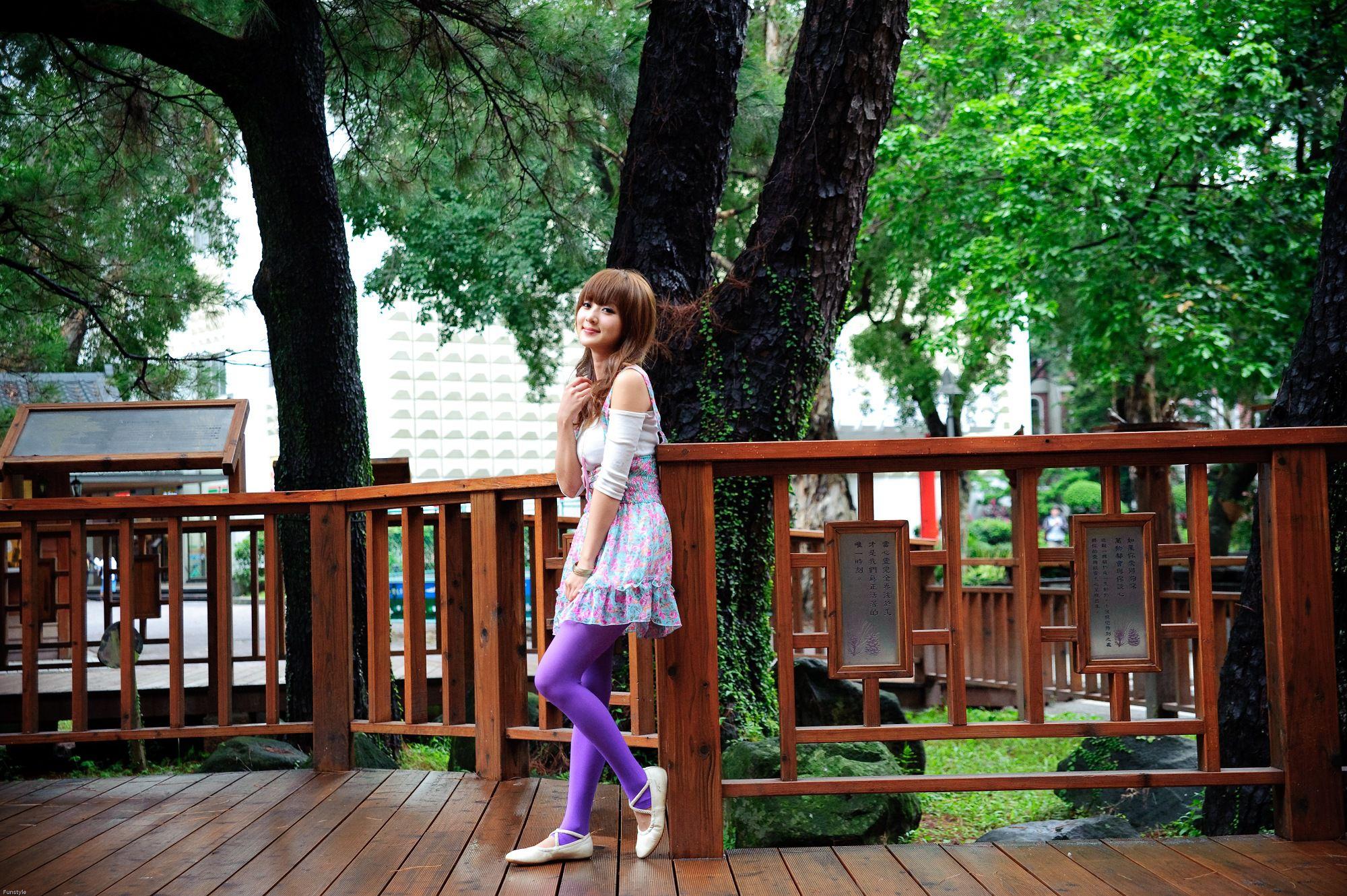 VOL.1496 [台湾正妹]清纯清新正妹姐妹花户外美女:张凯洁高品质写真套图(97P)