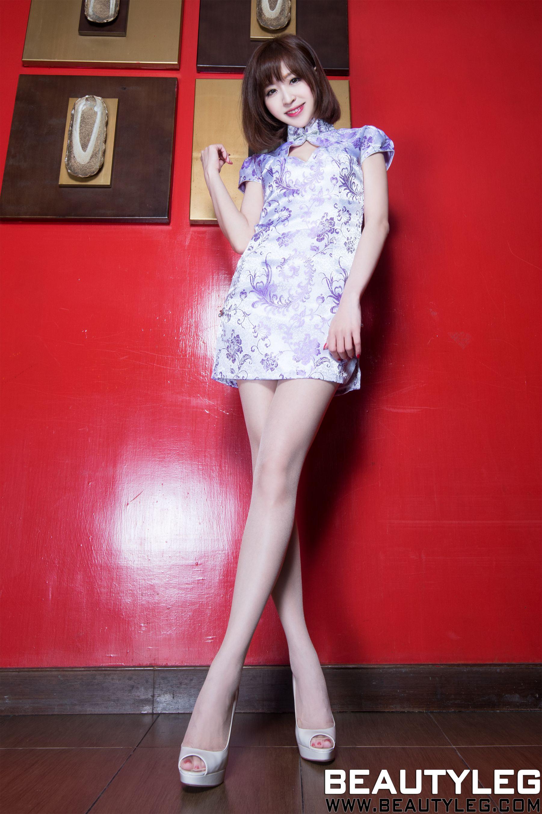 VOL.1086 [Beautyleg]短发旗袍高跟美腿:倪千凌(腿模Lucy,陈佳筠)高品质写真套图(44P)
