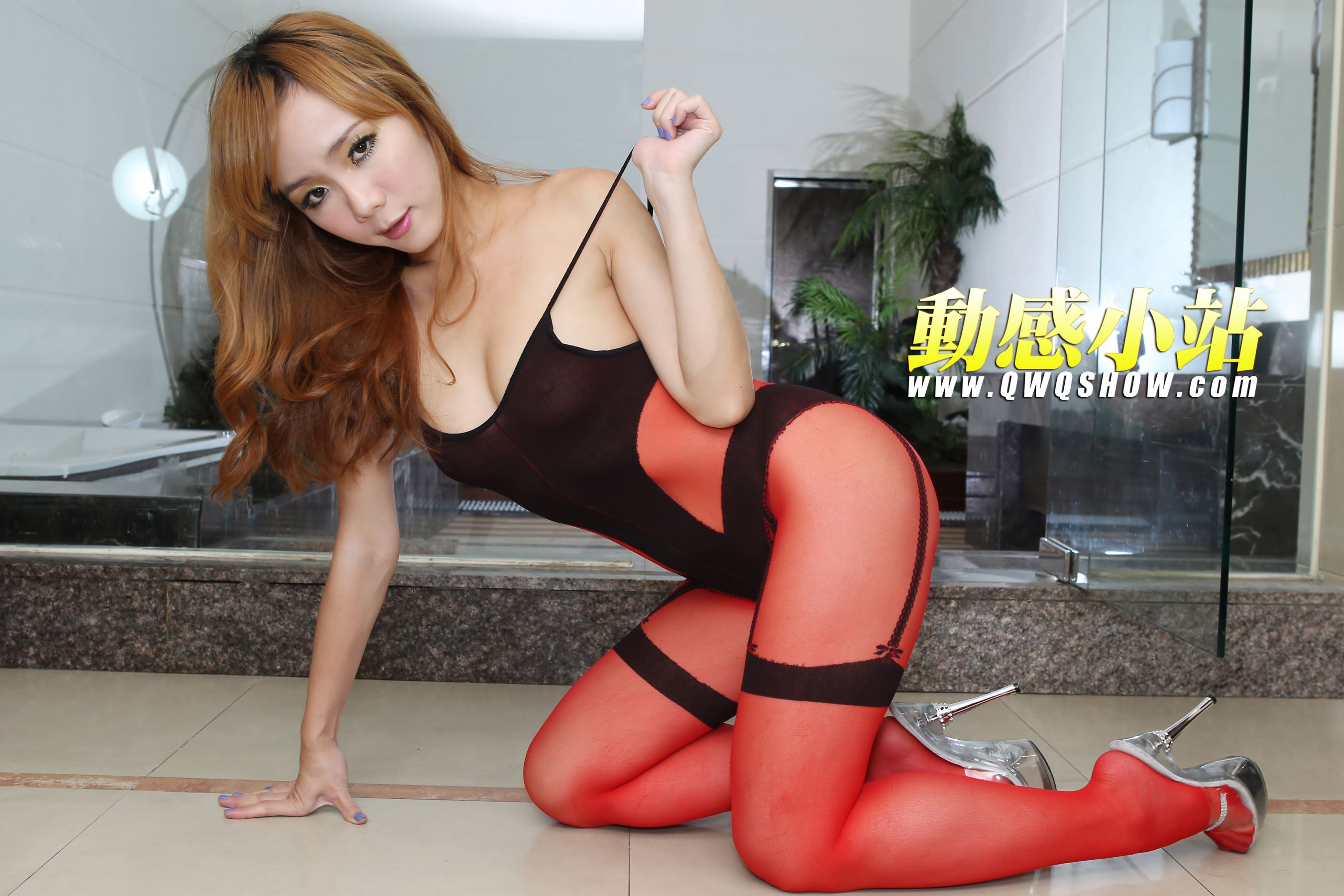 VOL.767 [动感之星]红色丝袜:精灵(动感小站精灵,动感之星精灵)高品质写真套图(46P)