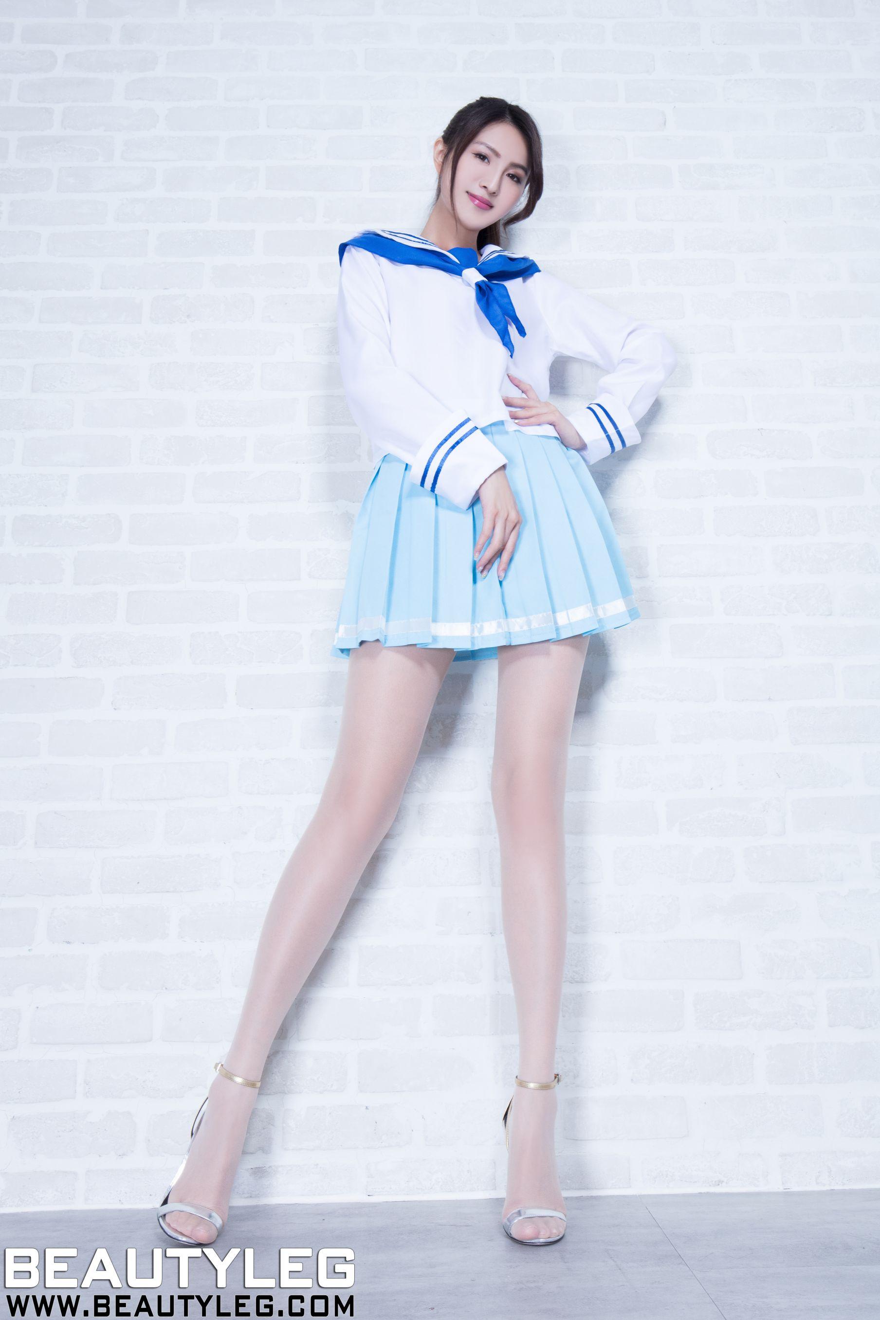 VOL.1121 [Beautyleg]长腿美女学生装:简晓育(腿模Vicni,晓育儿)高品质写真套图(48P)
