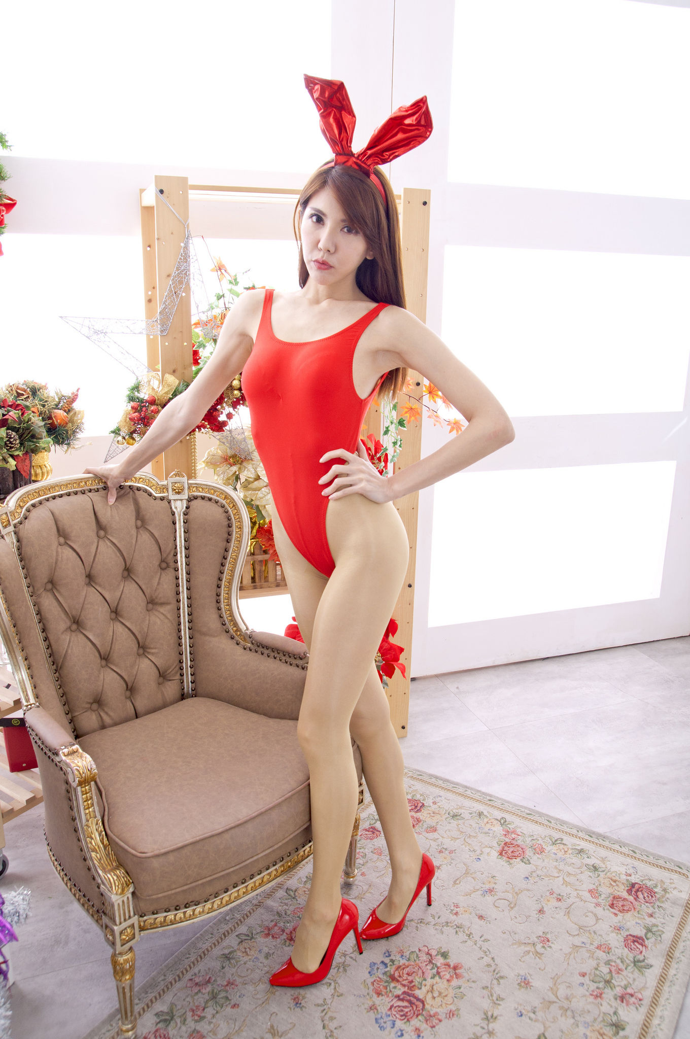 VOL.1814 [台湾正妹]兔女郎圣诞:黄淑华(腿模Maggie)超高清个人性感漂亮大图(40P)