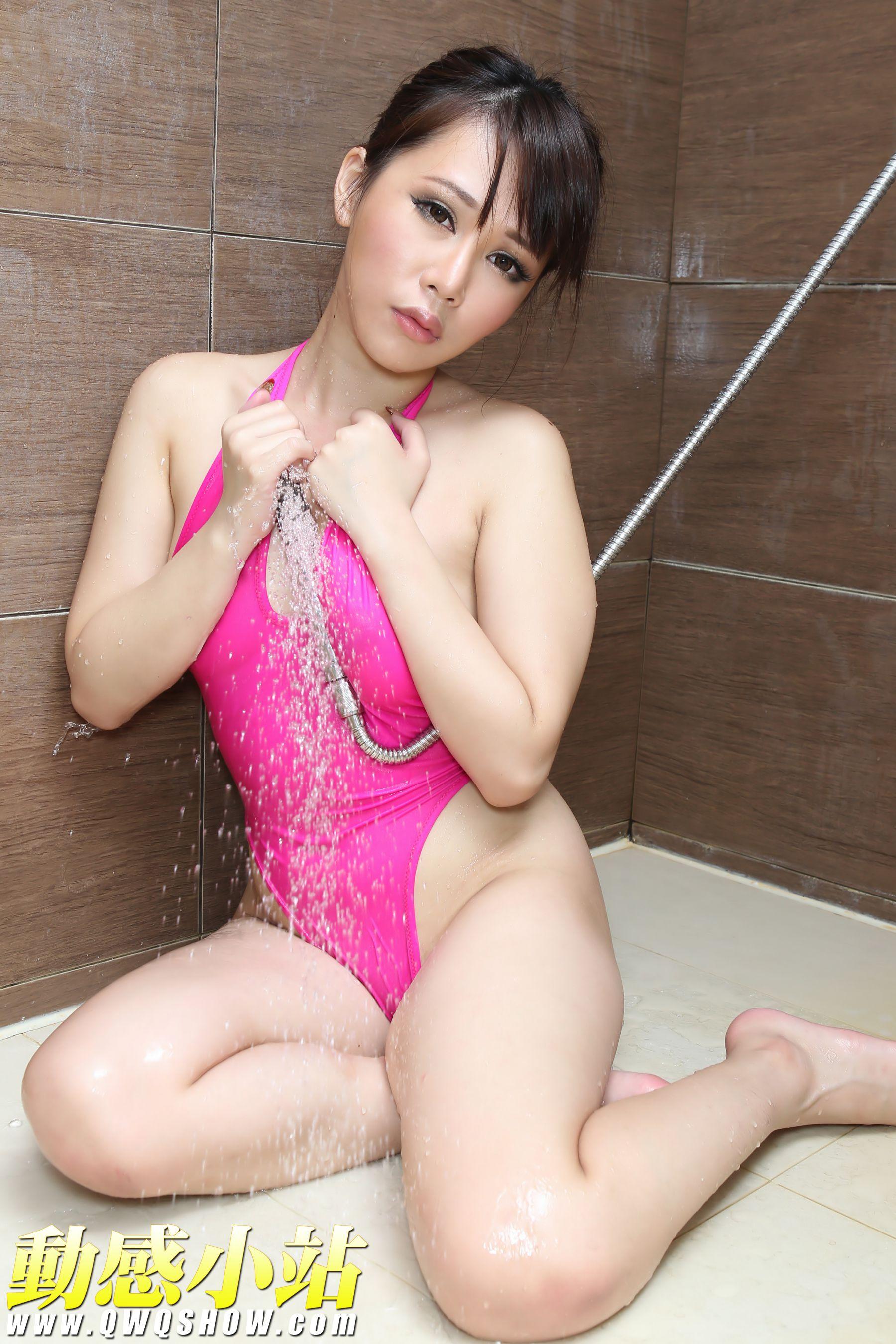 VOL.285 [动感之星]诱惑湿身浴室粉嫩:妖精(动感小站妖精,动感之星妖精)高品质写真套图(50P)